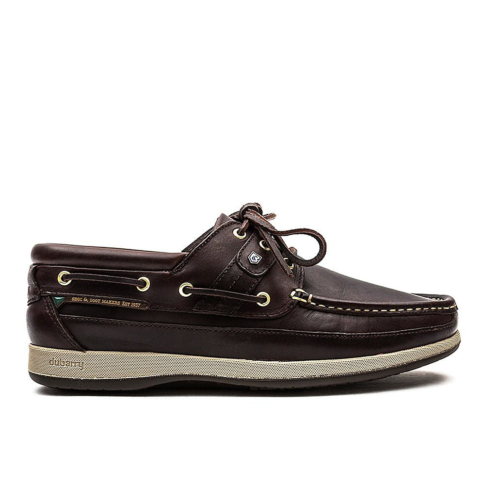 Dubarry Men's Atlantic Leather Boat Shoes - Old Rum
