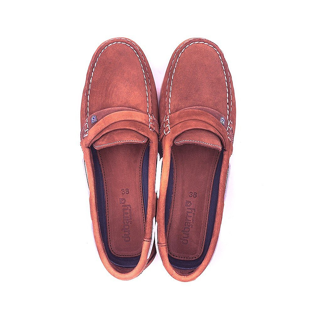Dubarry Women's Hawaii Suede Boat Shoes - Russet