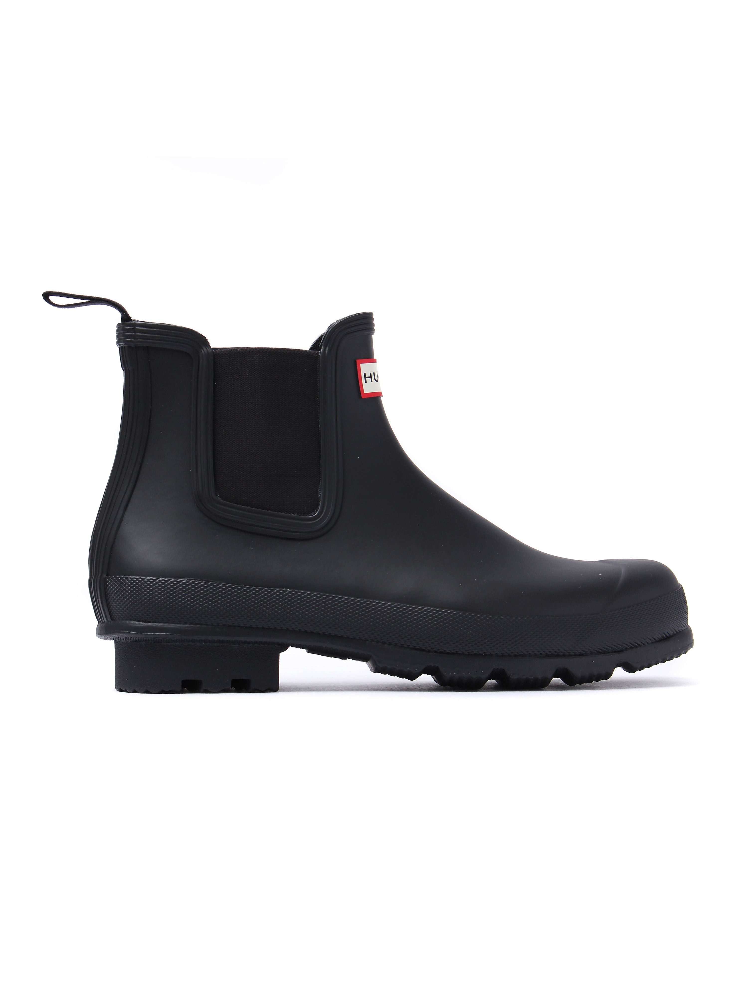 Hunter Wellies Original Dark Sole Chelsea Boots - Black