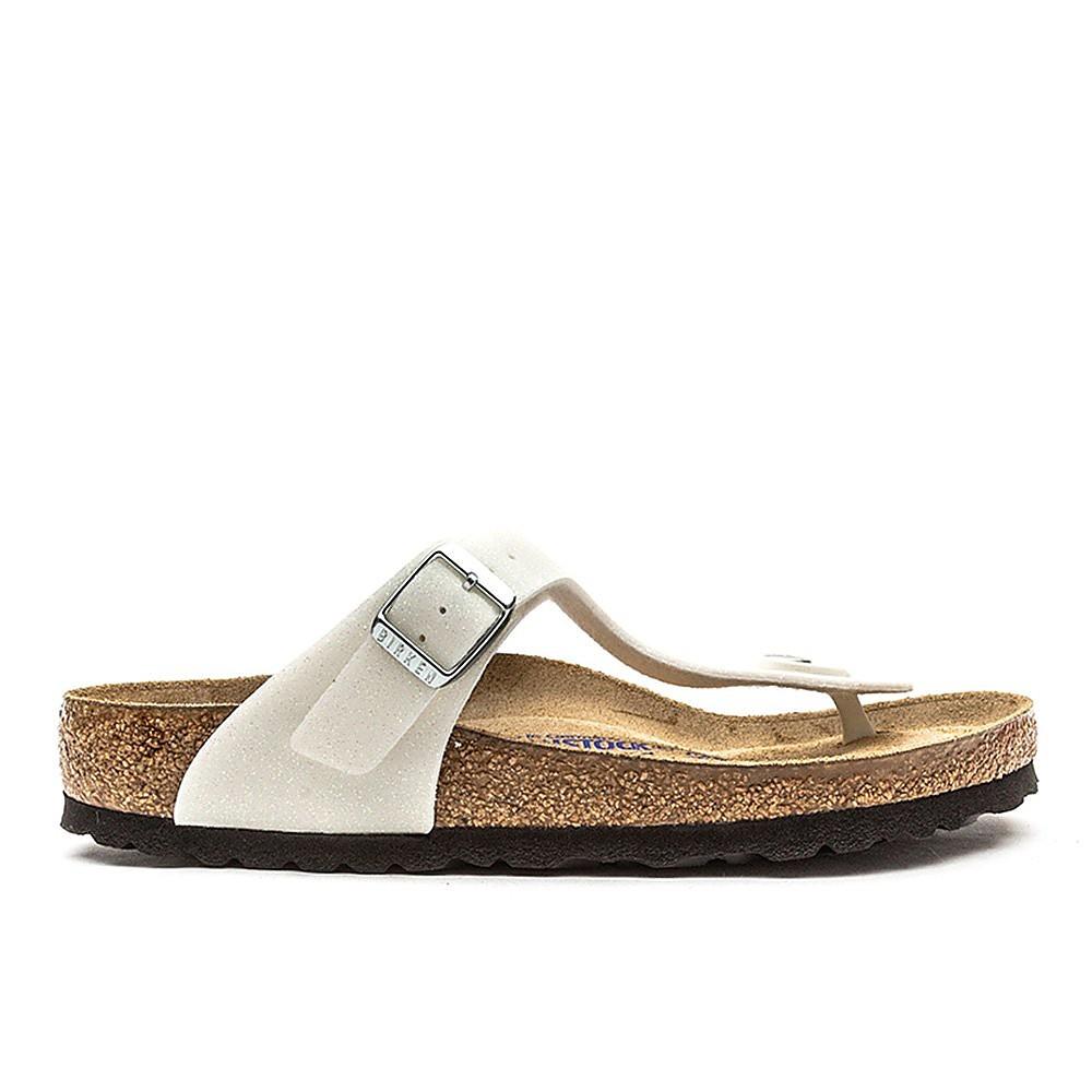 Birkenstock Women's Gizeh Magic Galaxy Toe Post Sandal - White