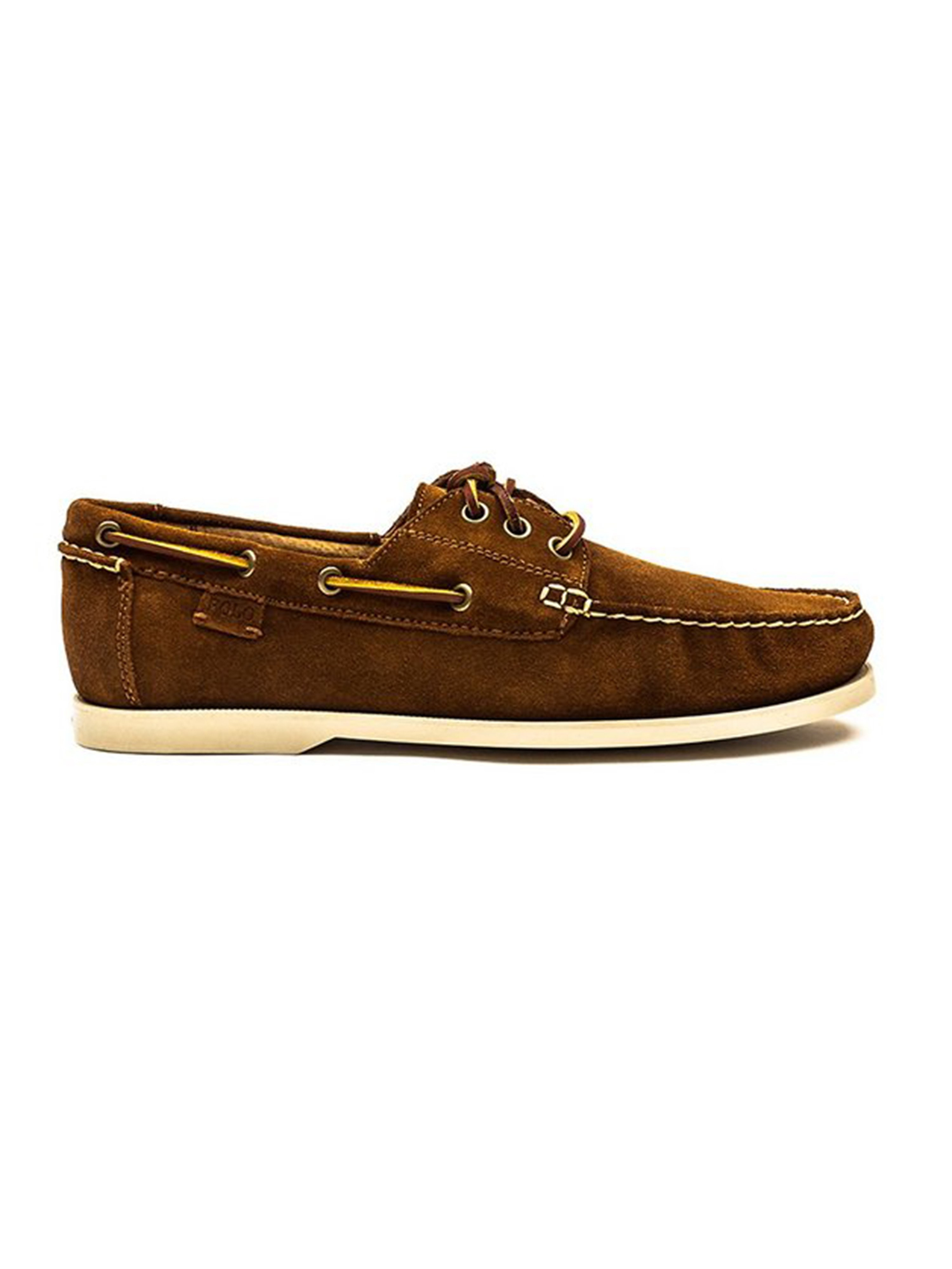 Polo Ralph Lauren Mens Bienne II Suede Shoes - New Snuff Brown