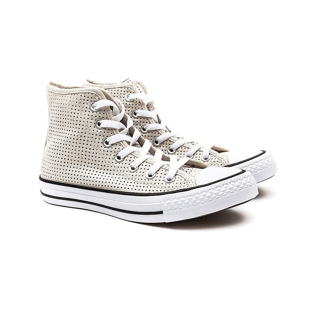 Converse Womens Chuck Taylor All Star High Top - White Perferated