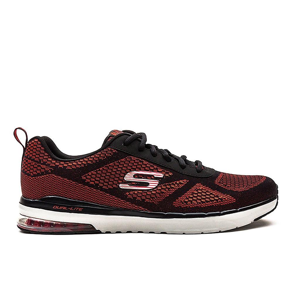 Skechers Mens SkechAir Infinity Shoes - Black/Red Engineered