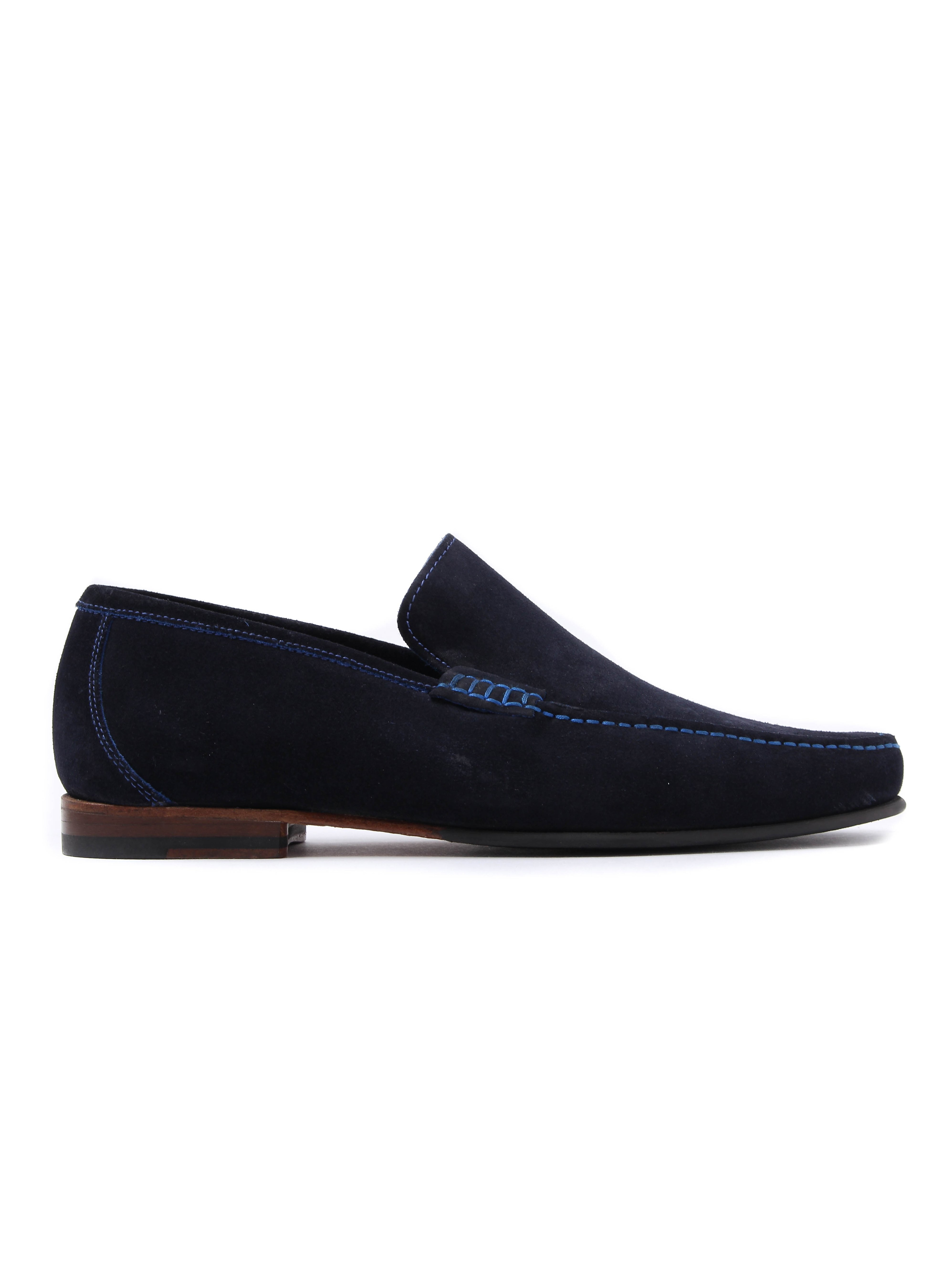 Loake Nicholson Mens Suede Shoes - Navy