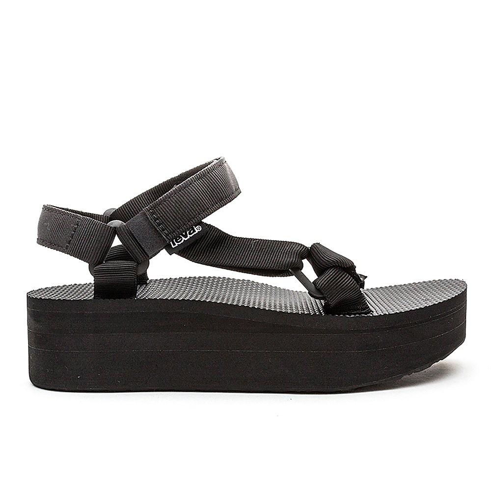 Teva Womens Teva Flatform Sandals - Black