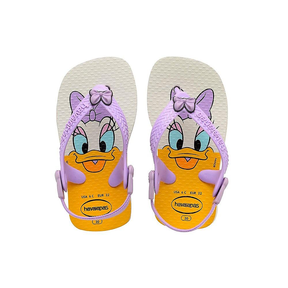 Havaianas Infants Baby Disney Classic Flip Flops - White/Lilac