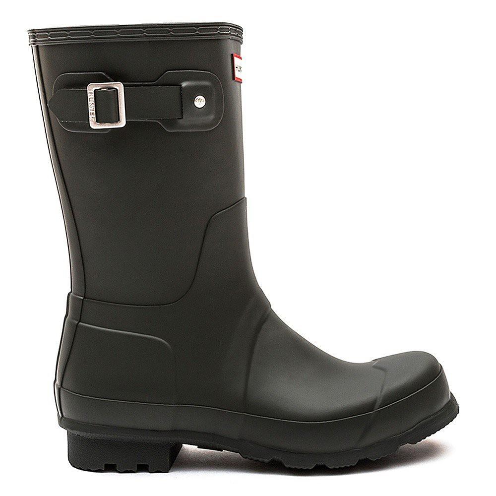 Hunter Wellies Women's Original Short Wellington Boots - Dark Olive