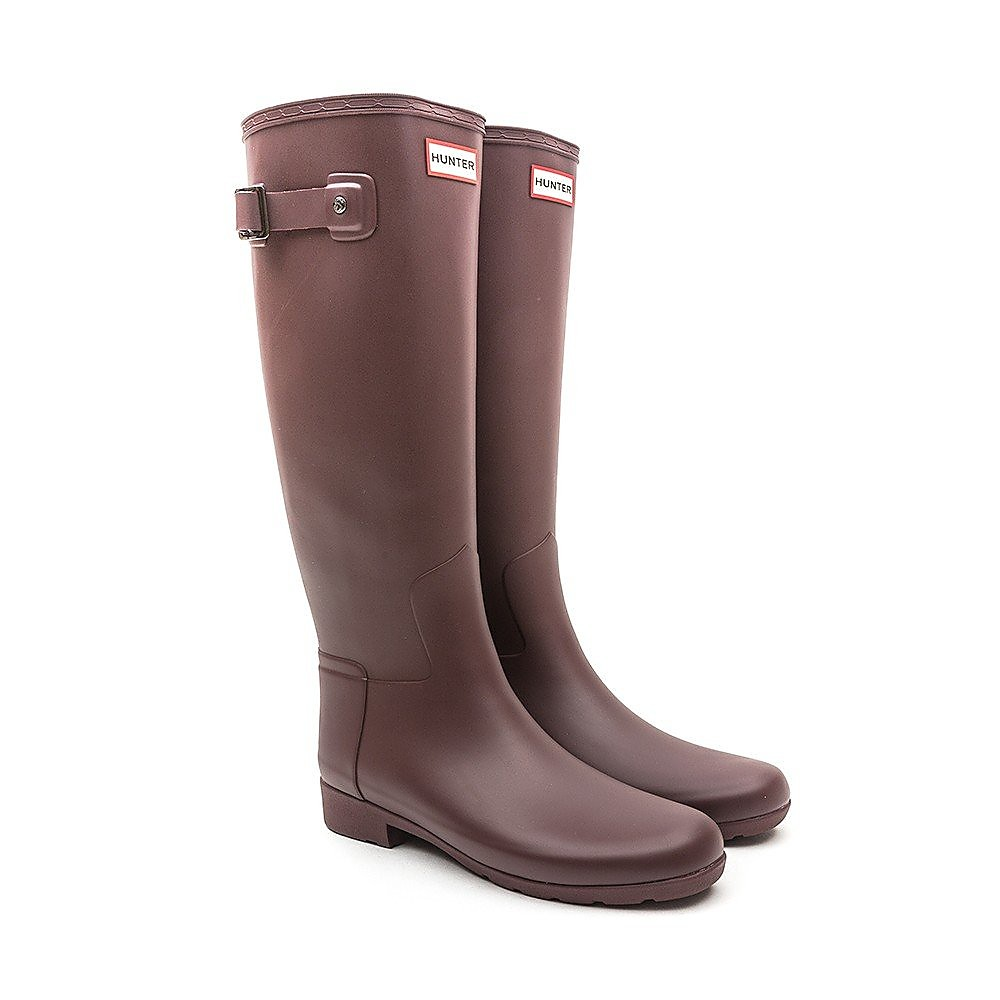 Hunter Wellies Womens Original Refined - Dulse Red