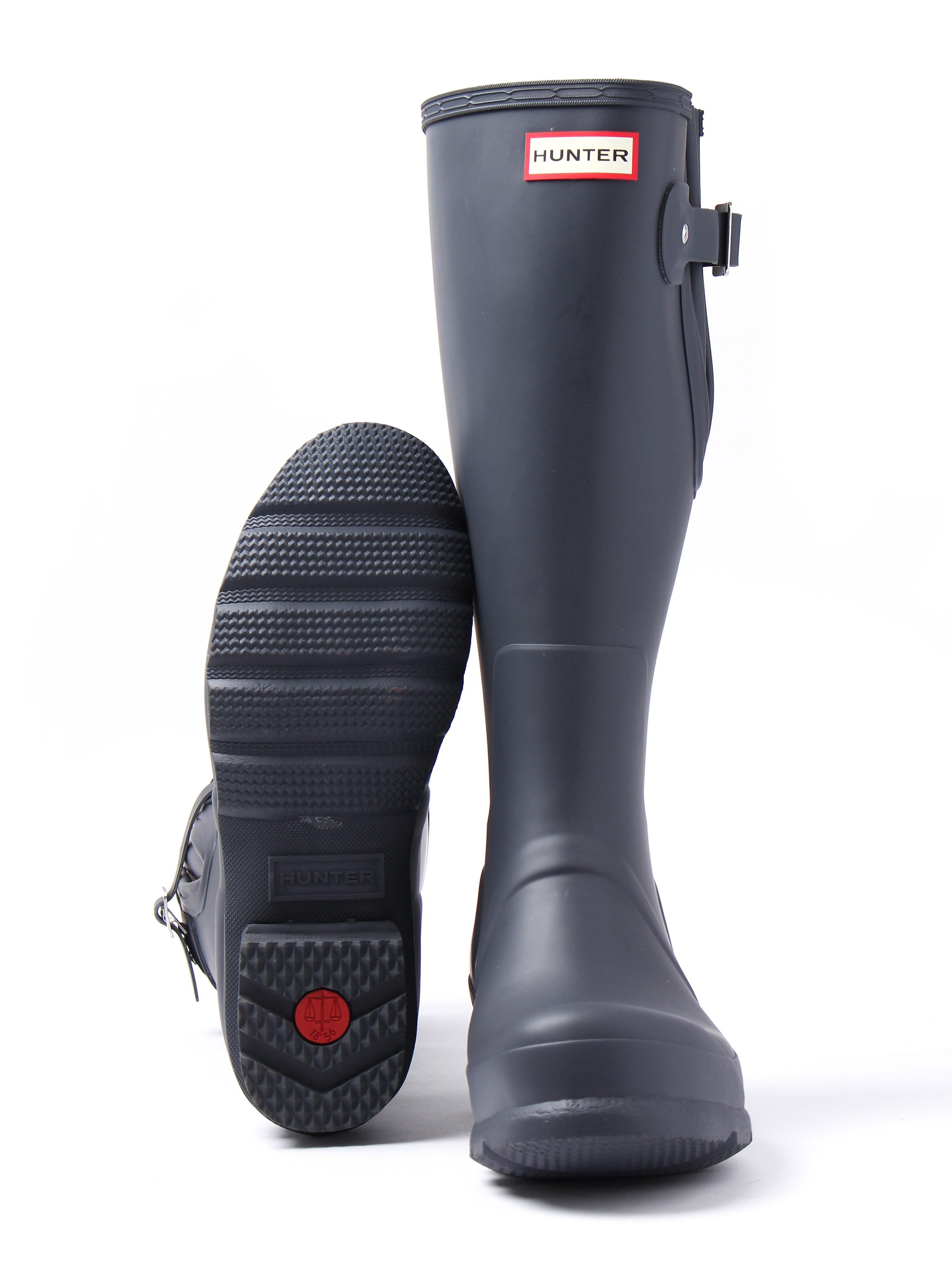 Hunter Wellies Mens Original Side Adjustable - Dark Slate