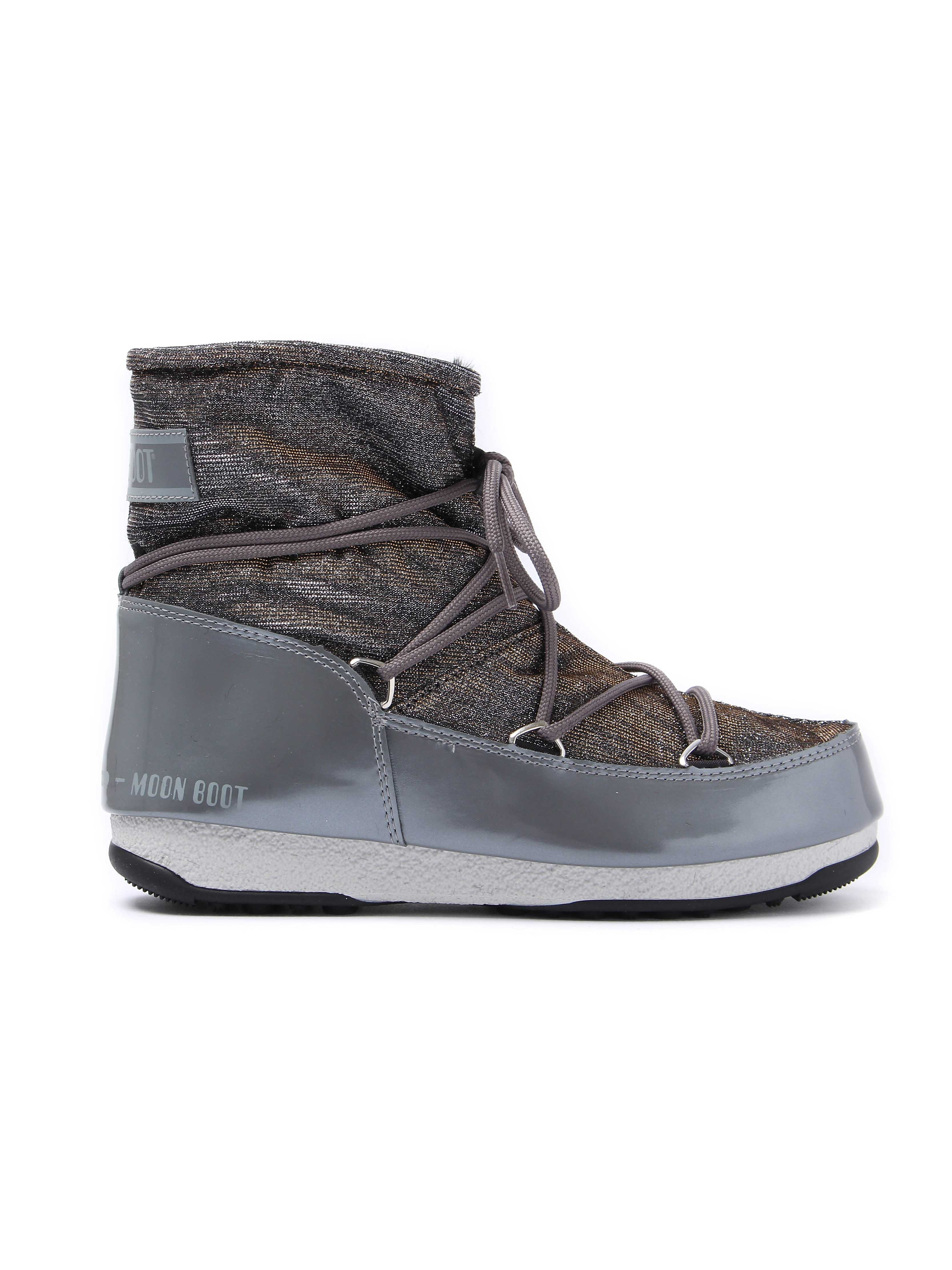 Moon Boots WE Low Lurex Boots - Grey/ Silver