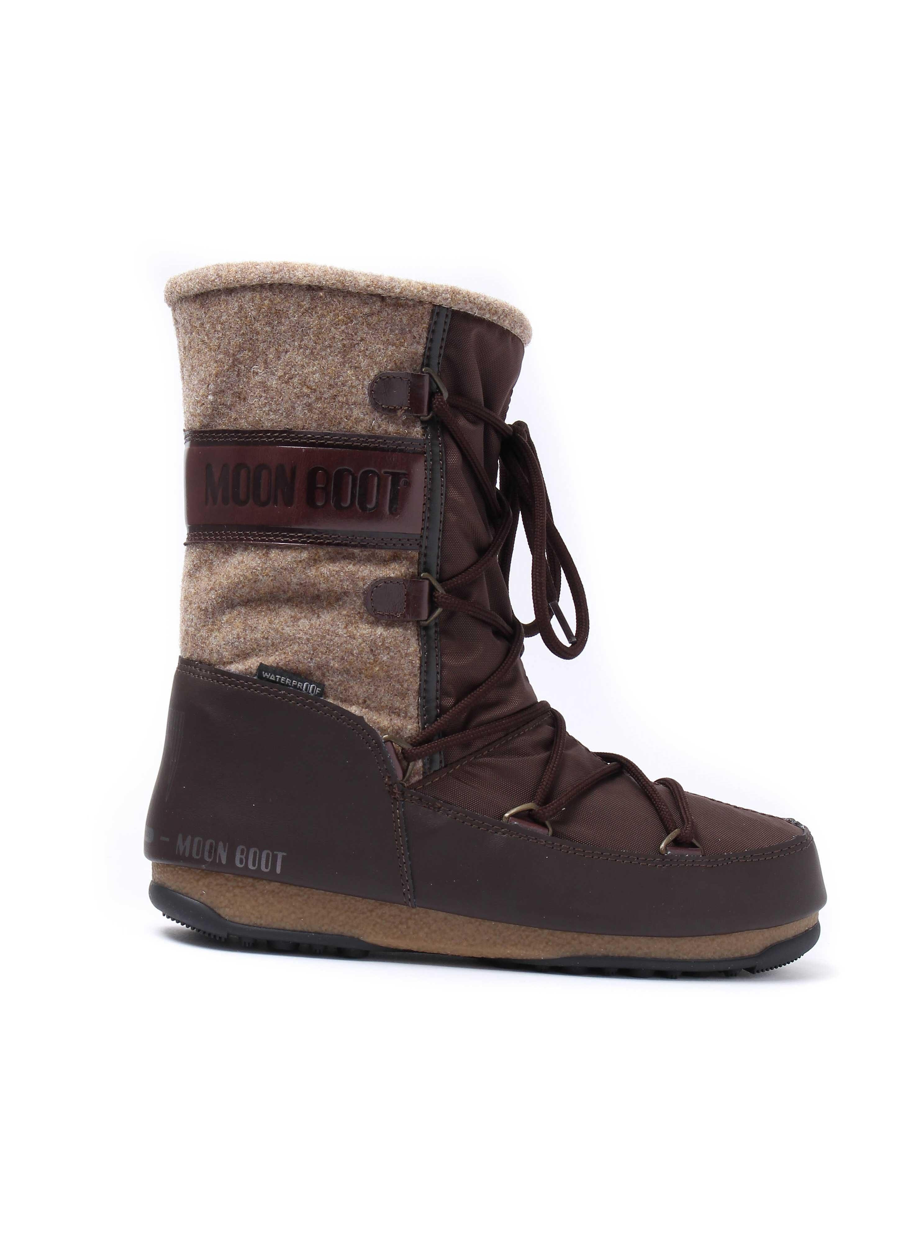 Moon Boots WE Vienna Felt Boots - Dark Brown