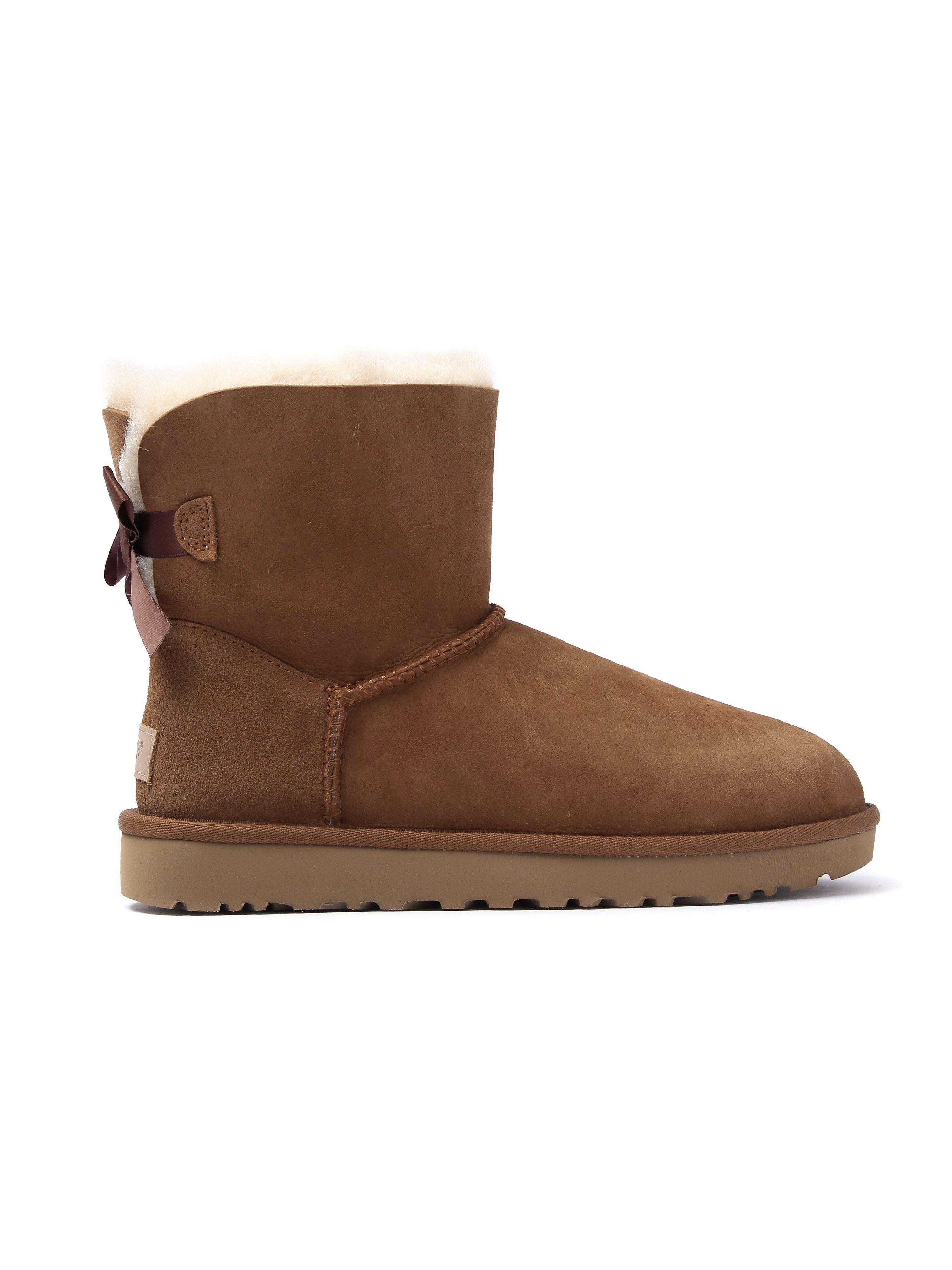 Ugg Women's Bailey Bow II Sheepskin Boots - Chestnut