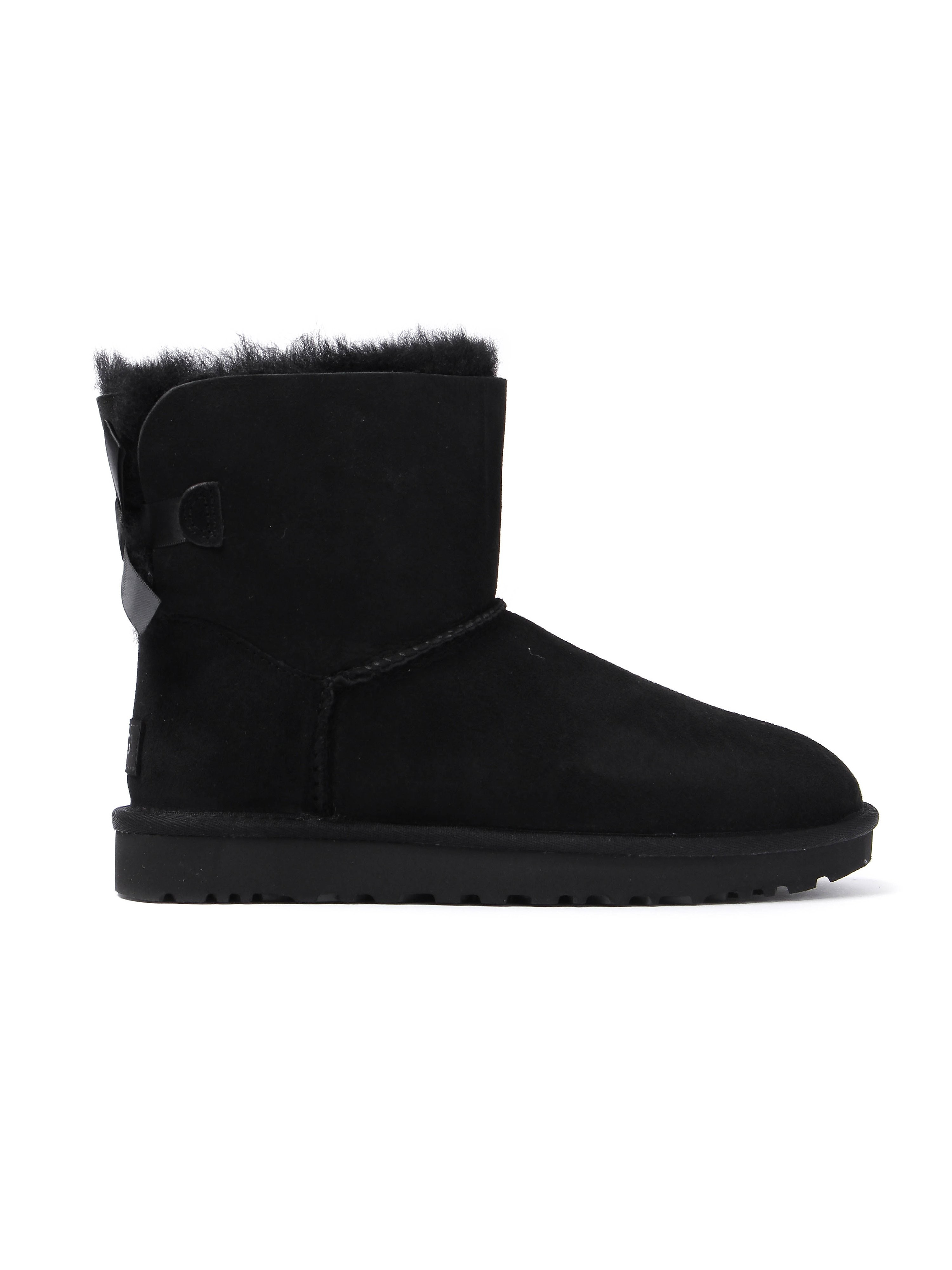 Ugg Women's Bailey Bow II Sheepskin Boots - Black