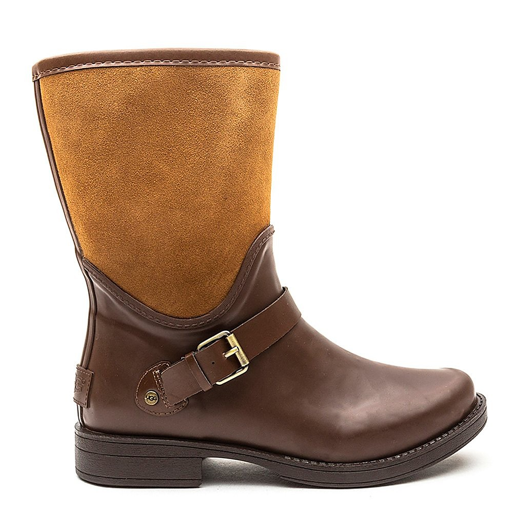 Ugg Womens Sivada Rubber Boots - Brown