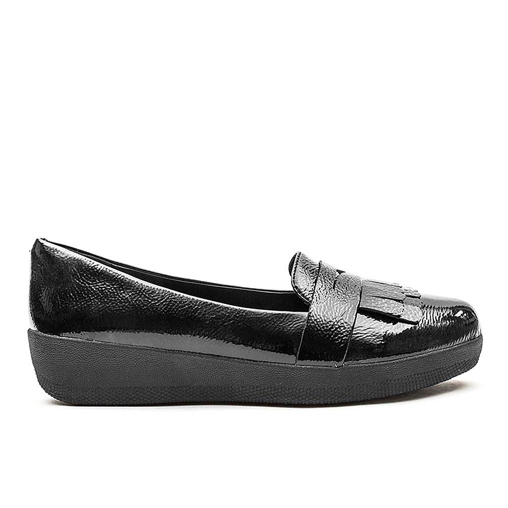 FitFlop Fringey Sneaker Loafer - Black