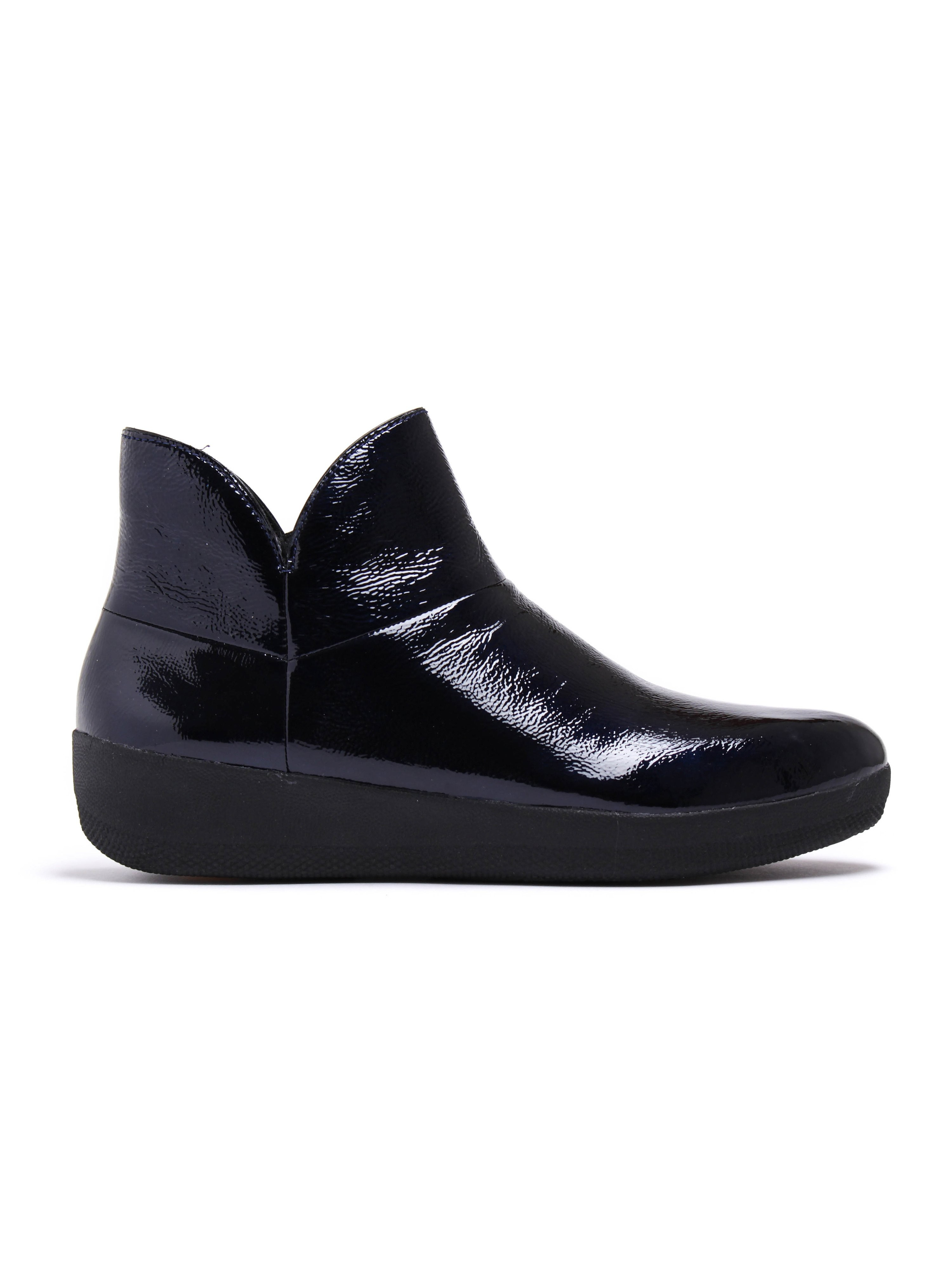 FitFlop Supermod Patent Leather Ankle Boot - Inky