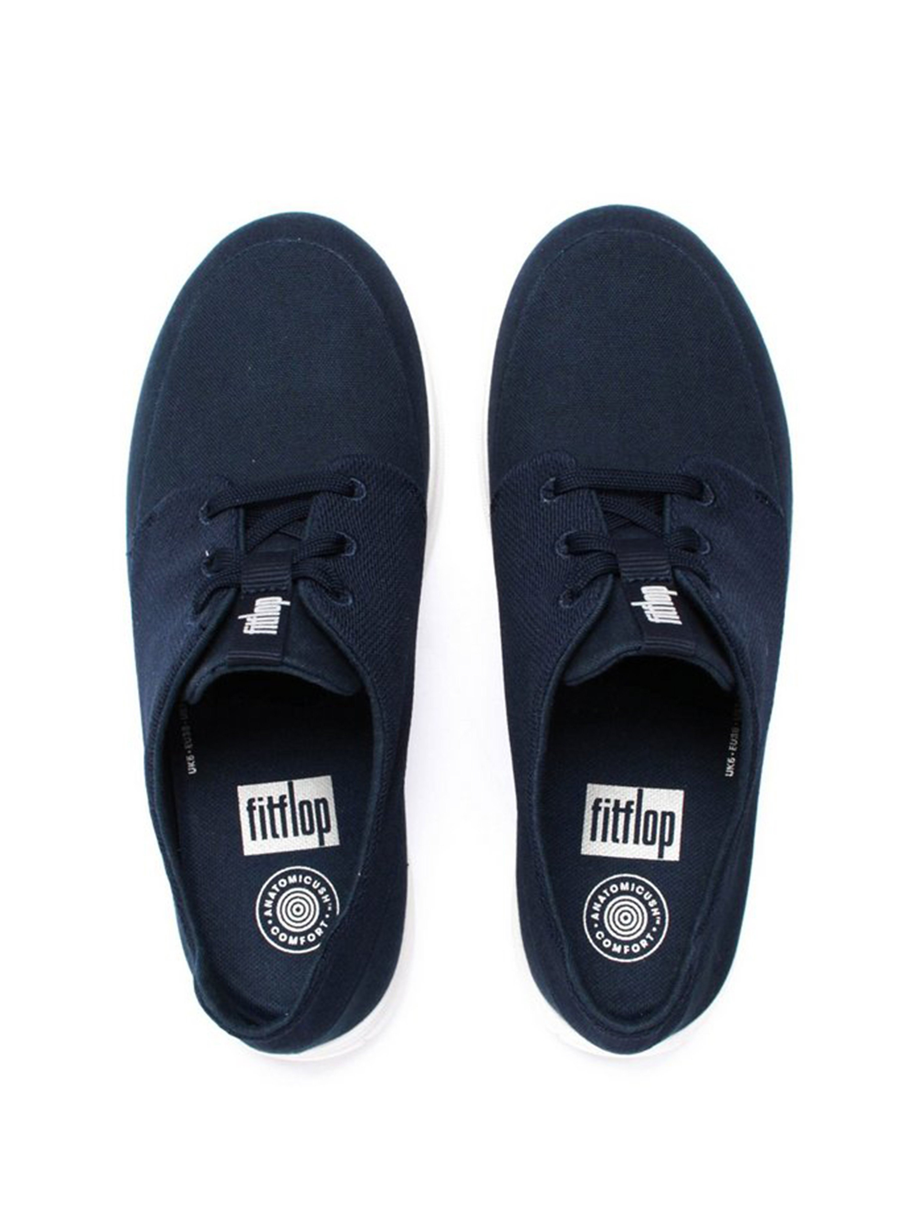 FitFlop Sporty-Pop™ Navy Canvas Softy Sneakers