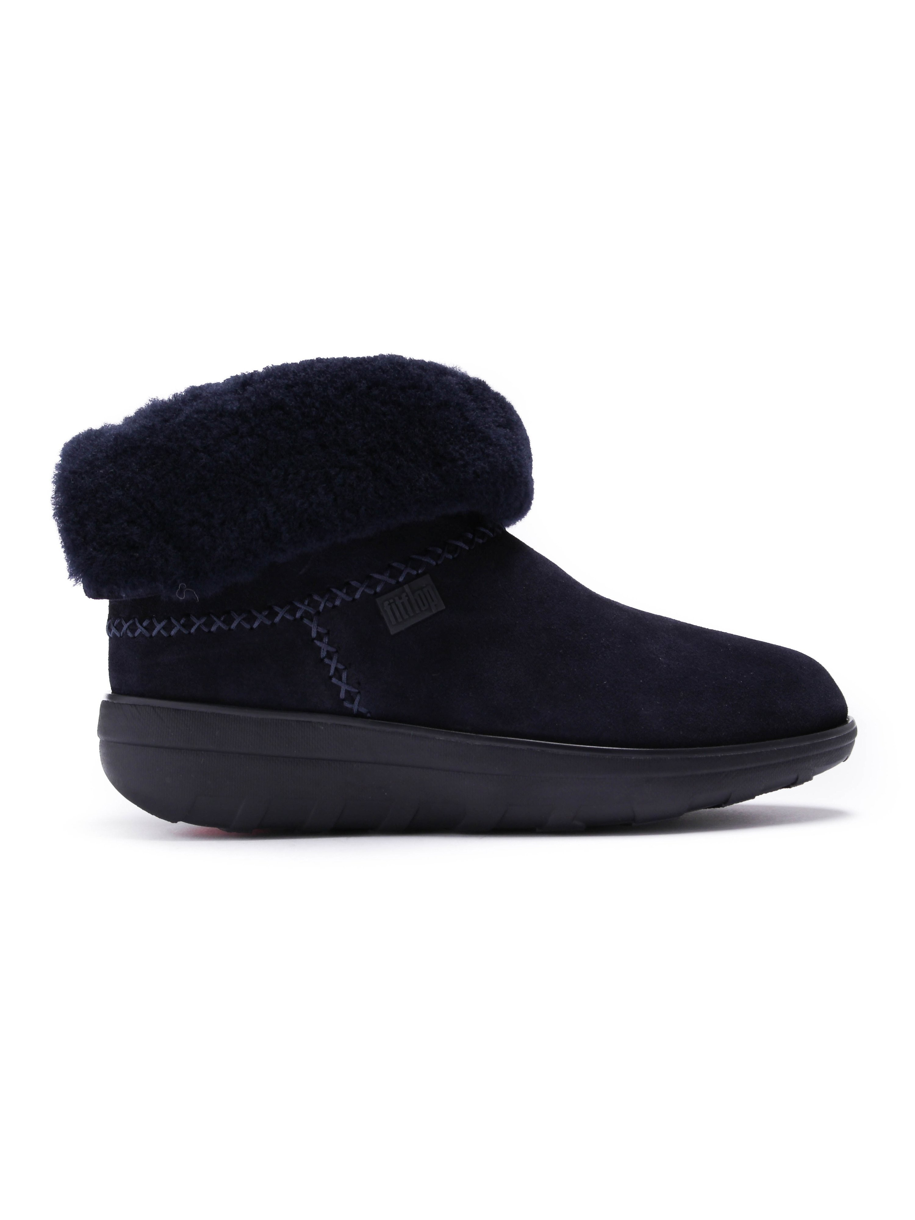 FitFlop Womens Supercush Mukloaff Shorty Boot - Supernavy