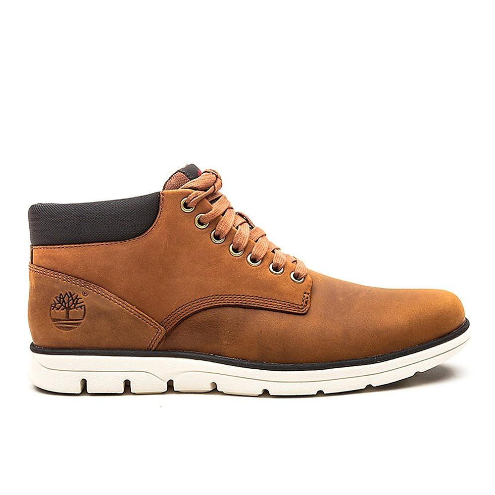 Timberland Mens Bradstreet Chukka - Red Brown Leather