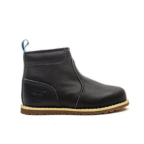 Timberland Infant Pokey Pine Side Zip Chukka - Black Iris Leather