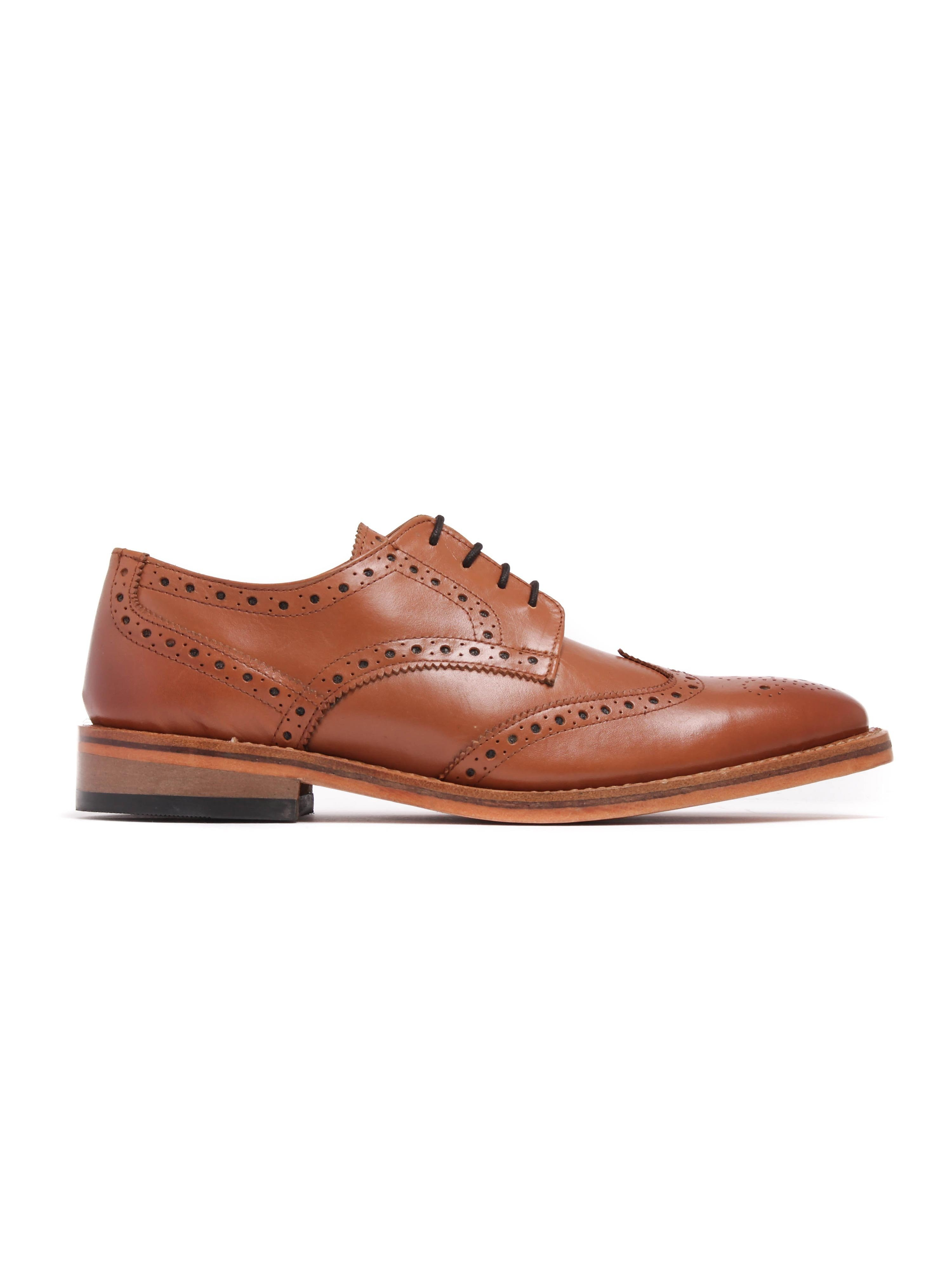 Russell Thomas Mens Surrey Tan Leather Brogues