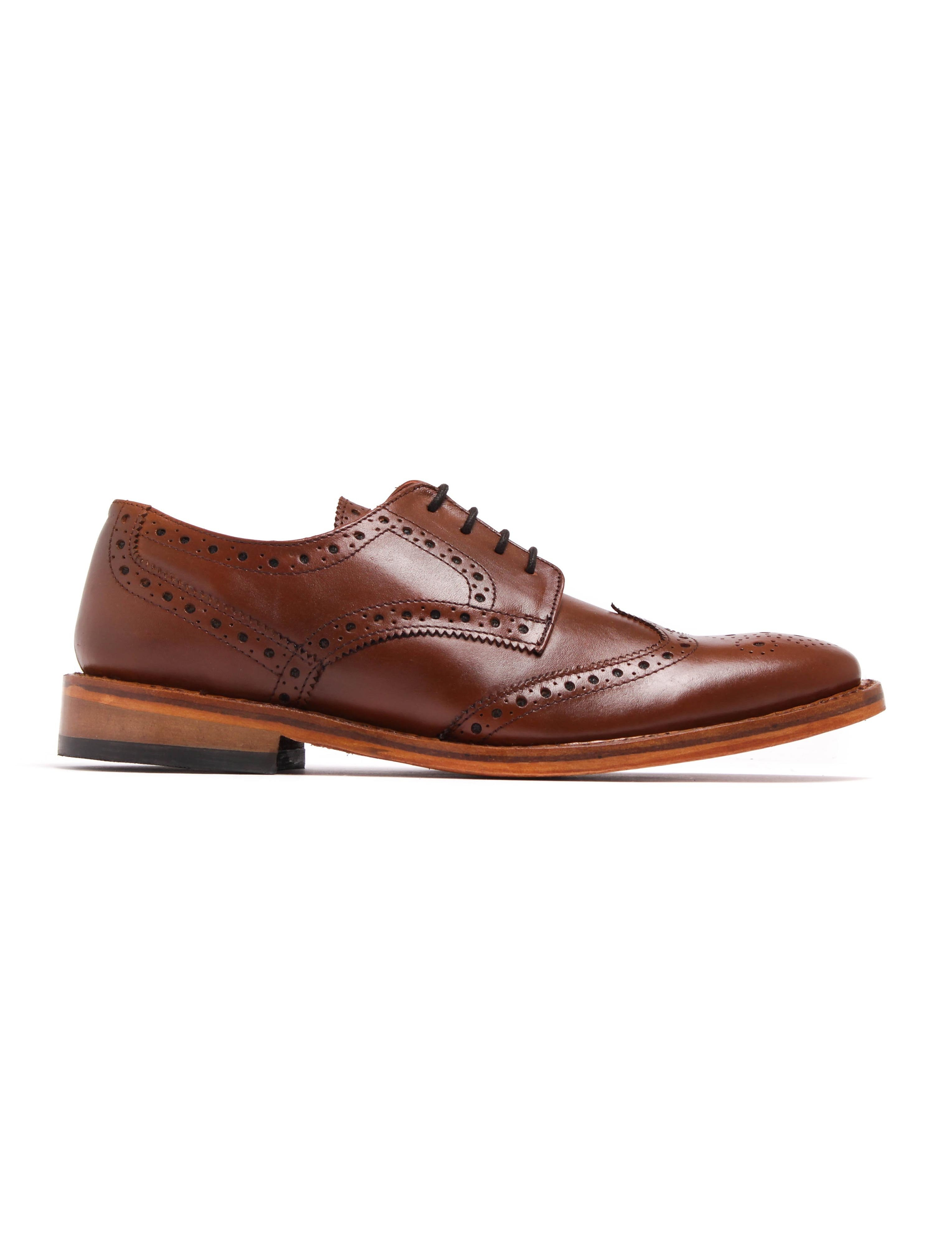 Russell Thomas Mens Surrey Antique Brown Leather Brogues