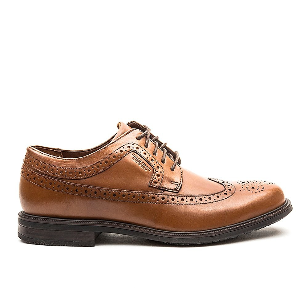 Rockport Men's Essential Details II Leather Brogues - Tan
