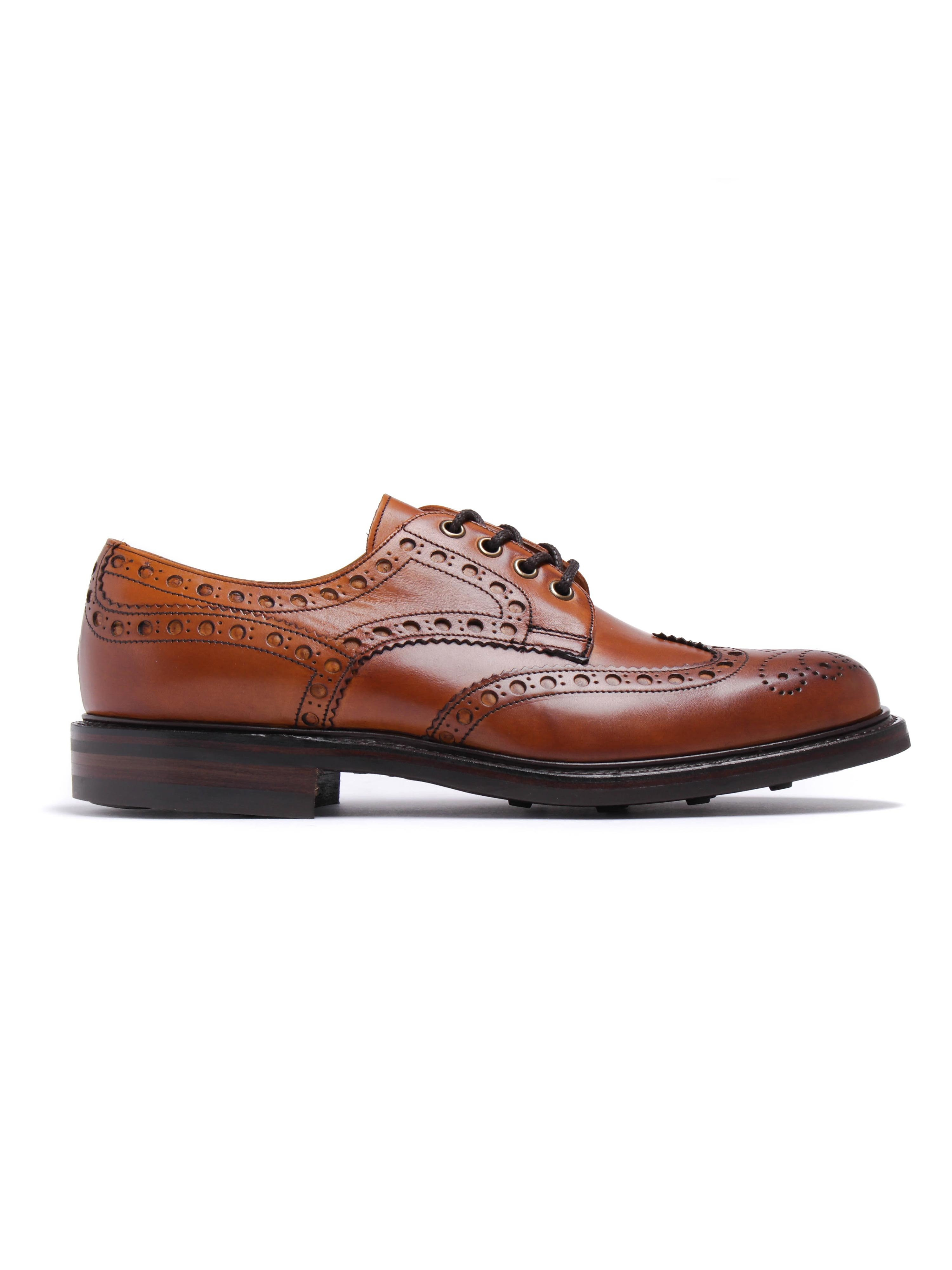Cheaney Men's Avon D Leather Wing-Cap Brogues - Dark Leaf