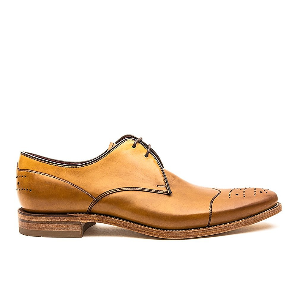 Loake Men's Crawford Leather Derby Shoes - Tan