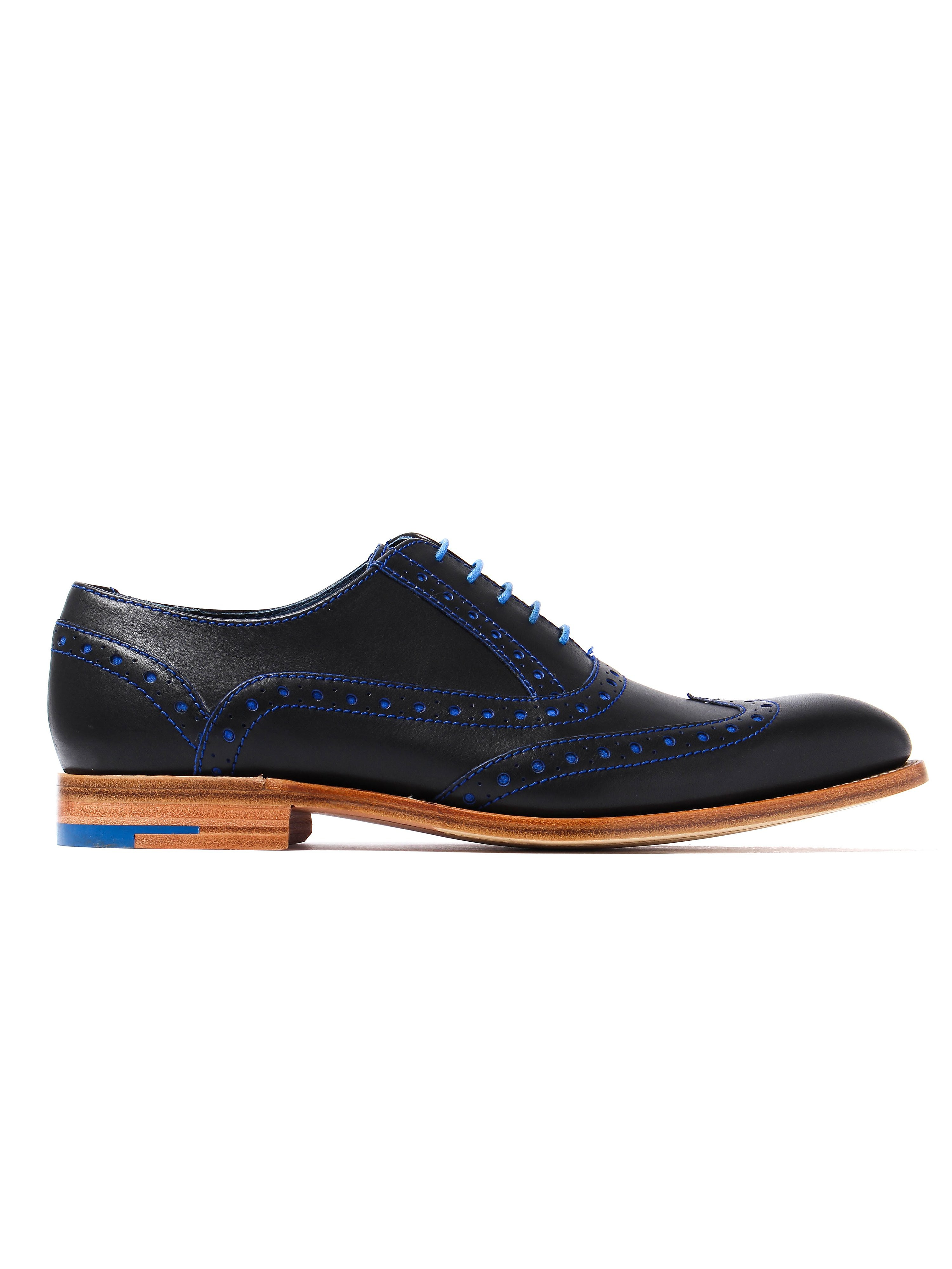 Barker Men's Grant Leather Oxford Brogues - Navy
