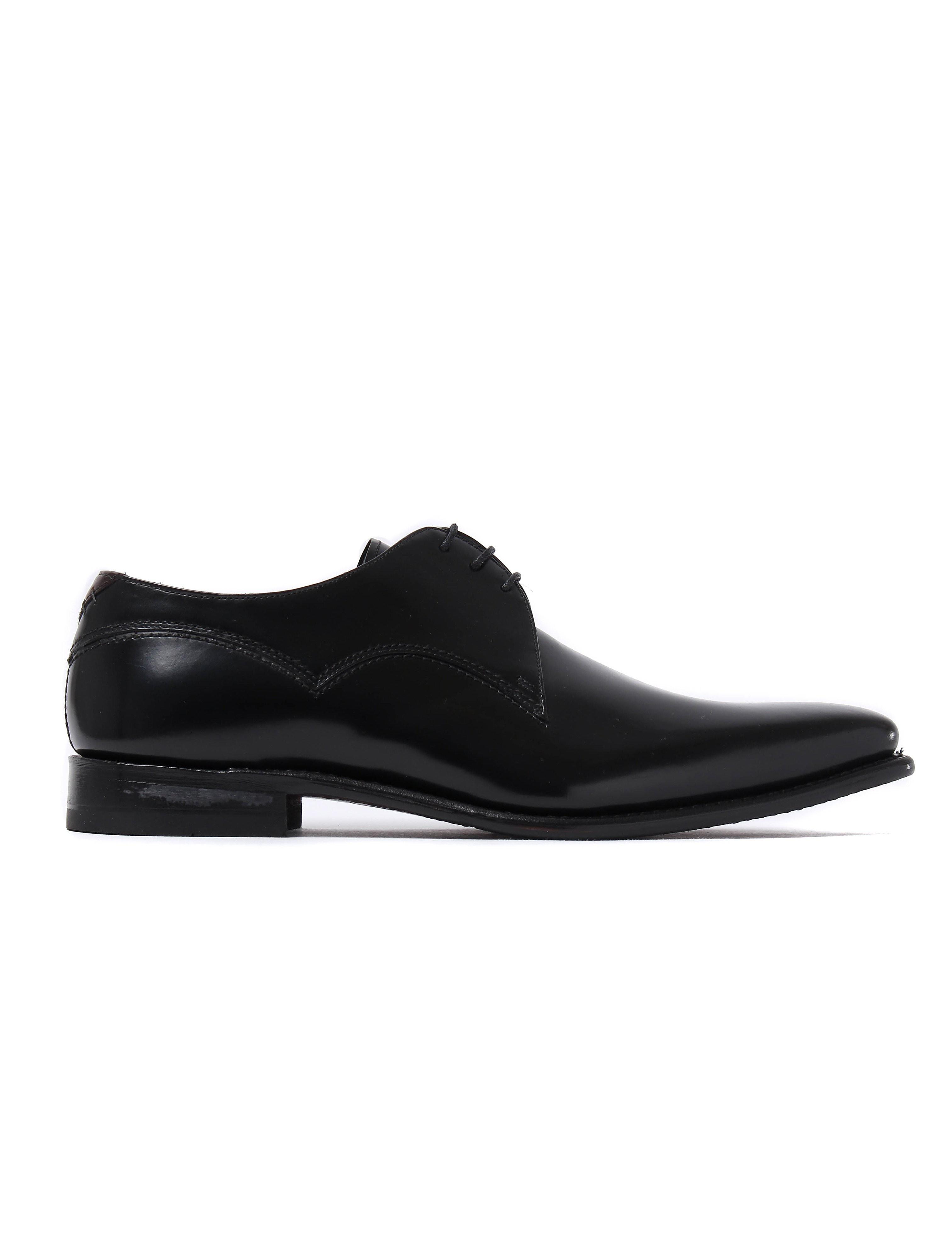 Barker Men's Connelly Patent Leather Derby Shoes - Black