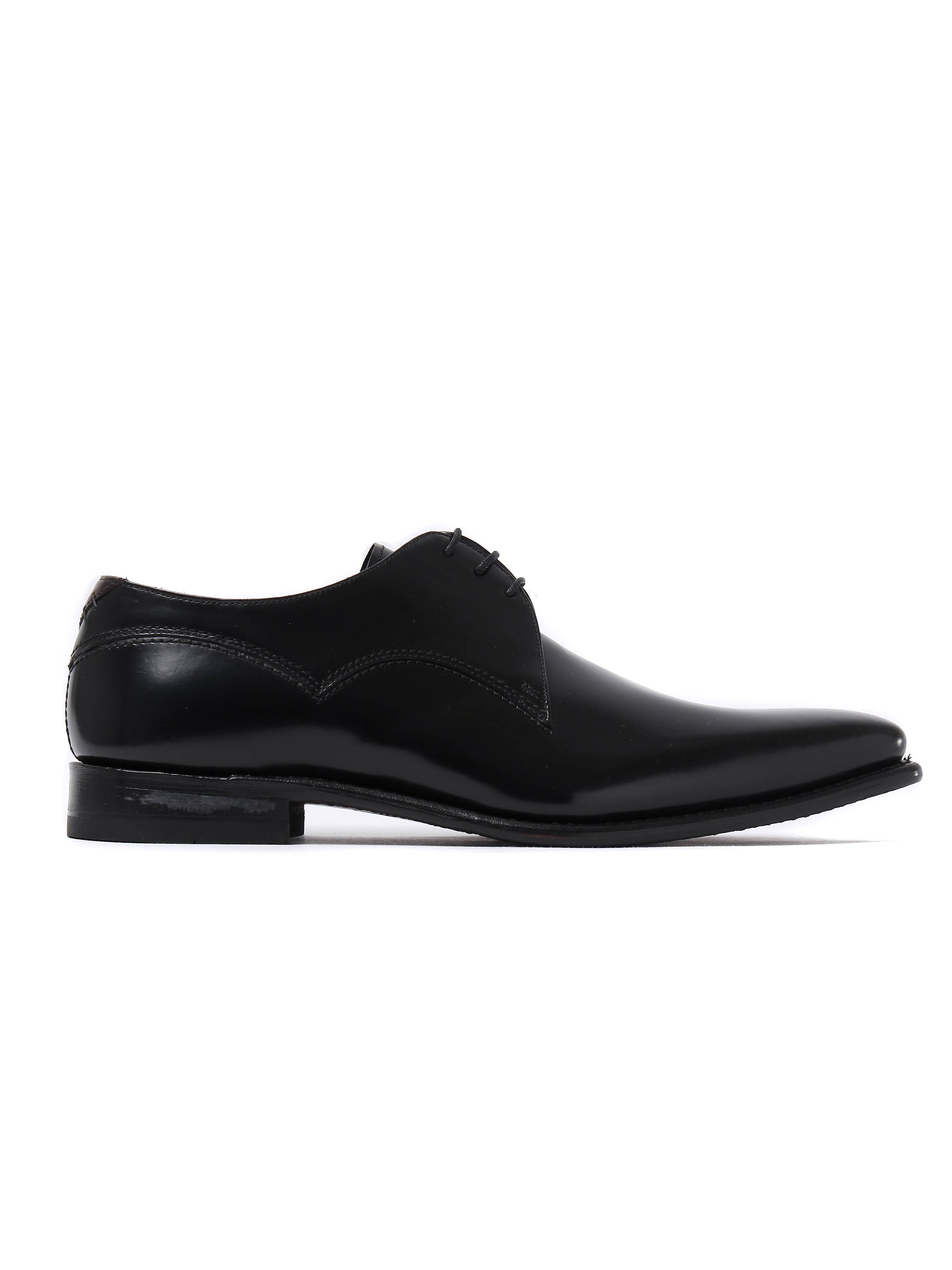 Barker Men's Connelly Patent Leather Derby Shoes - Black