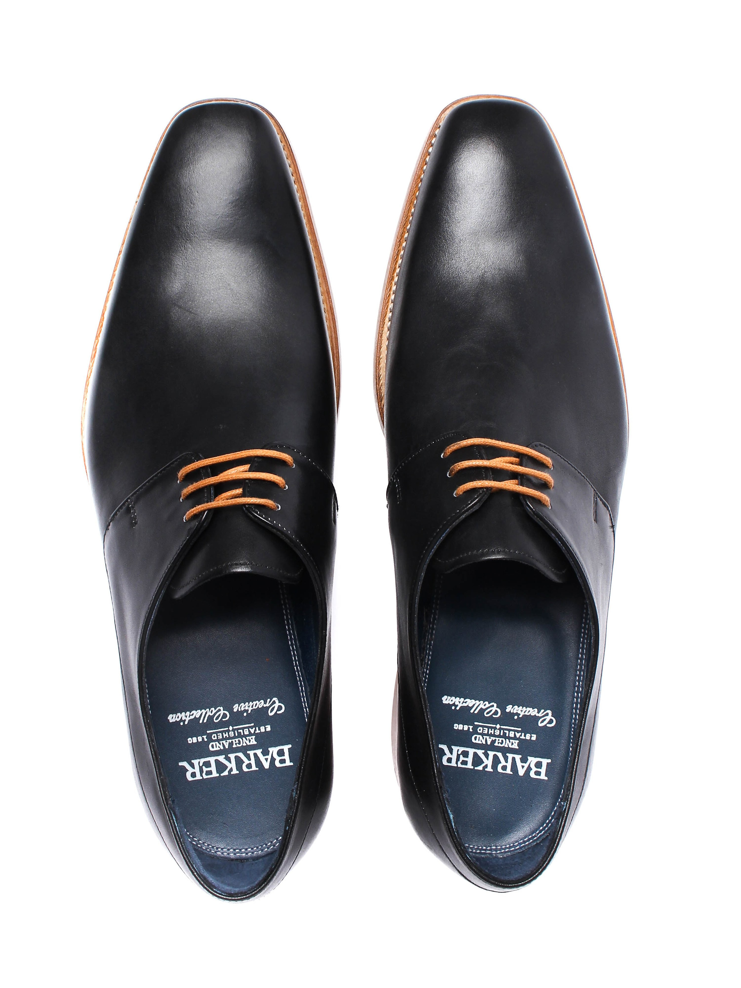 Barker Men's Kurt Leather Derby Shoes - Black