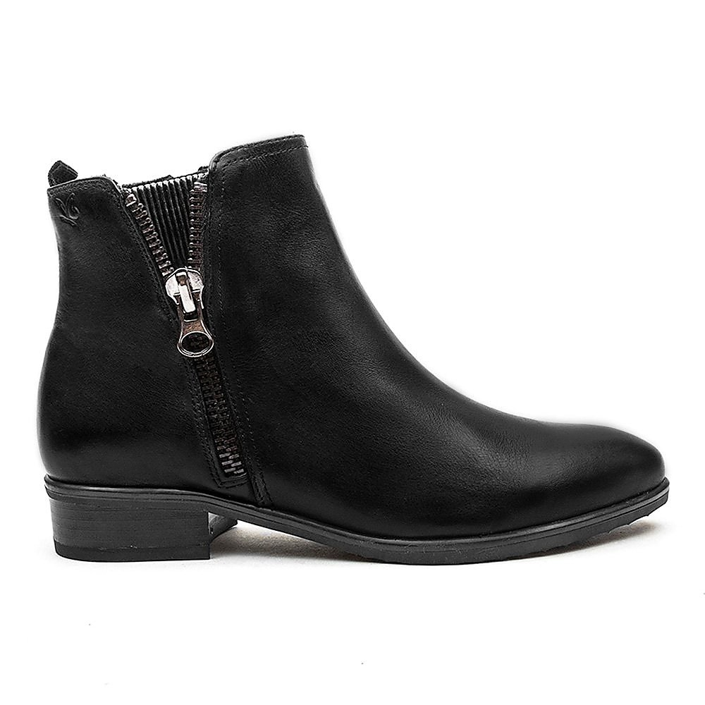 Caprice Zip Ankle Boot - Black