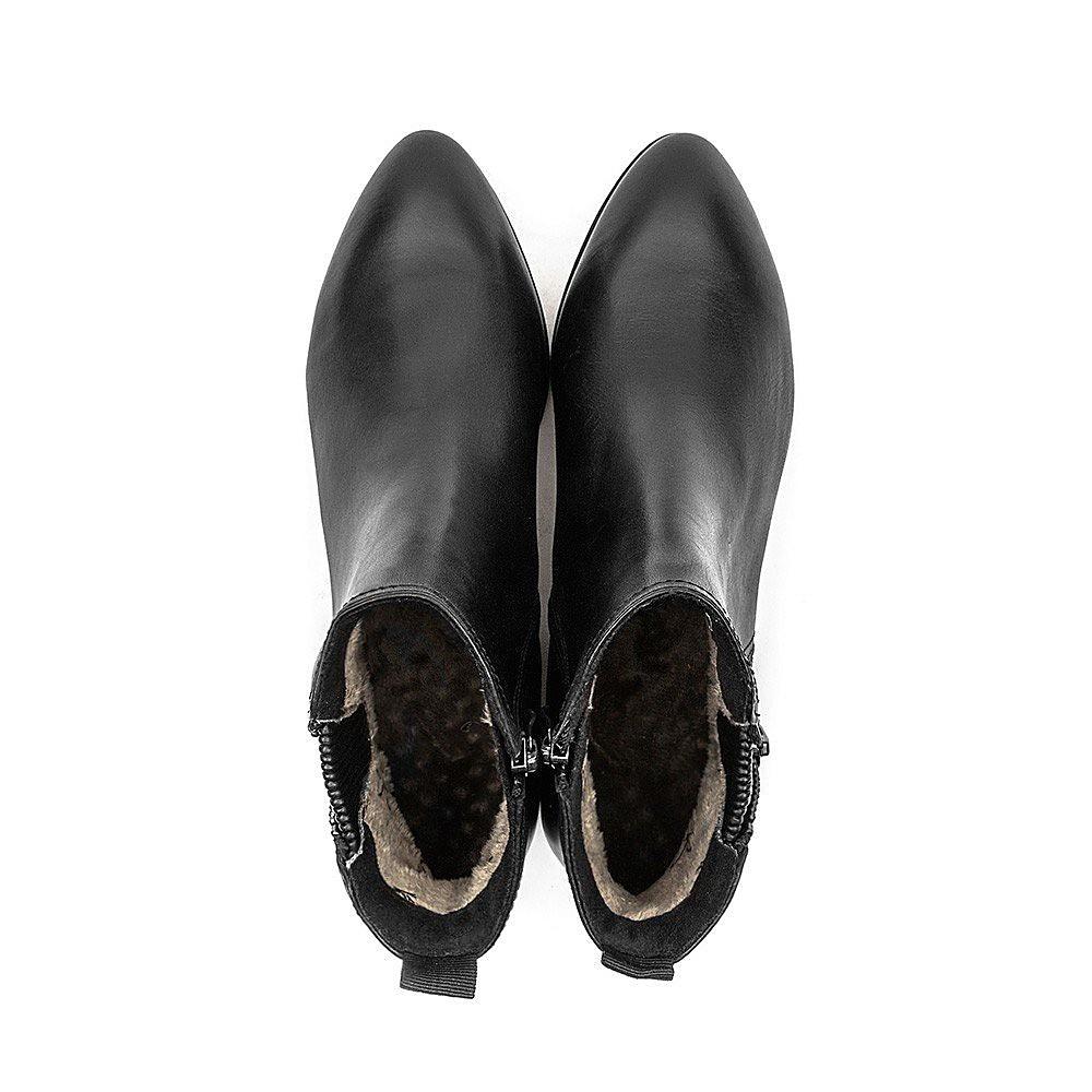 Caprice Zip Ankle Boot - Black