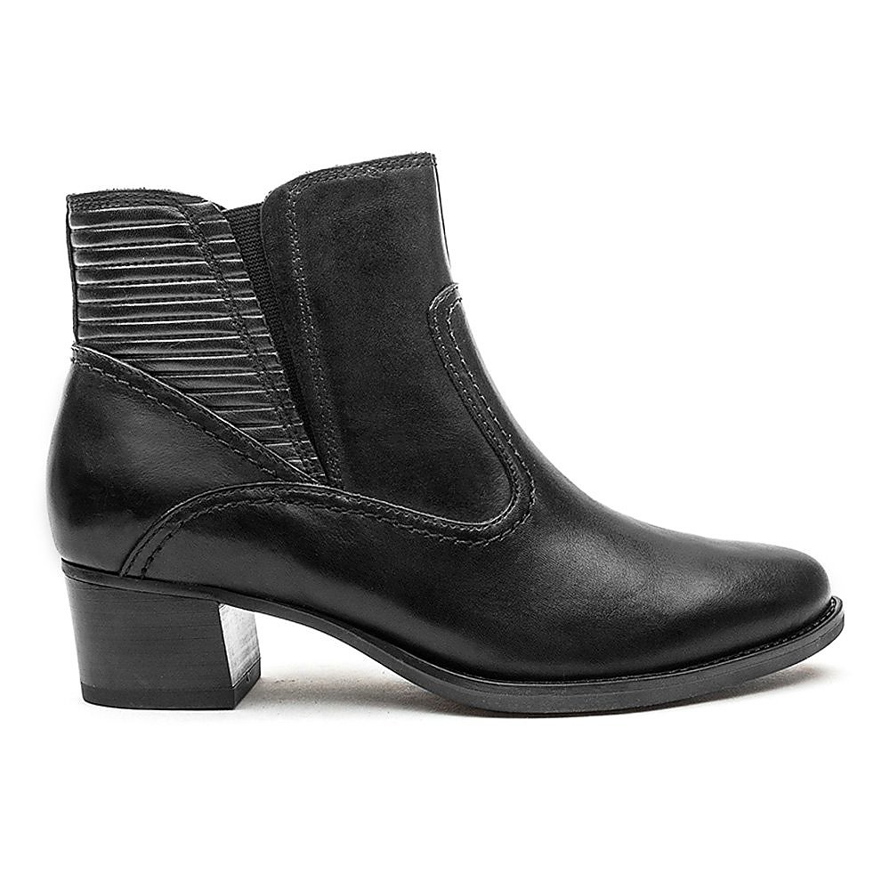 Caprice Heeled Ankle Boot - Black