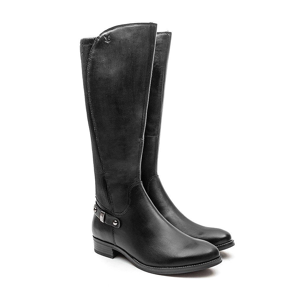 Caprice Stretch Back Boot - Black
