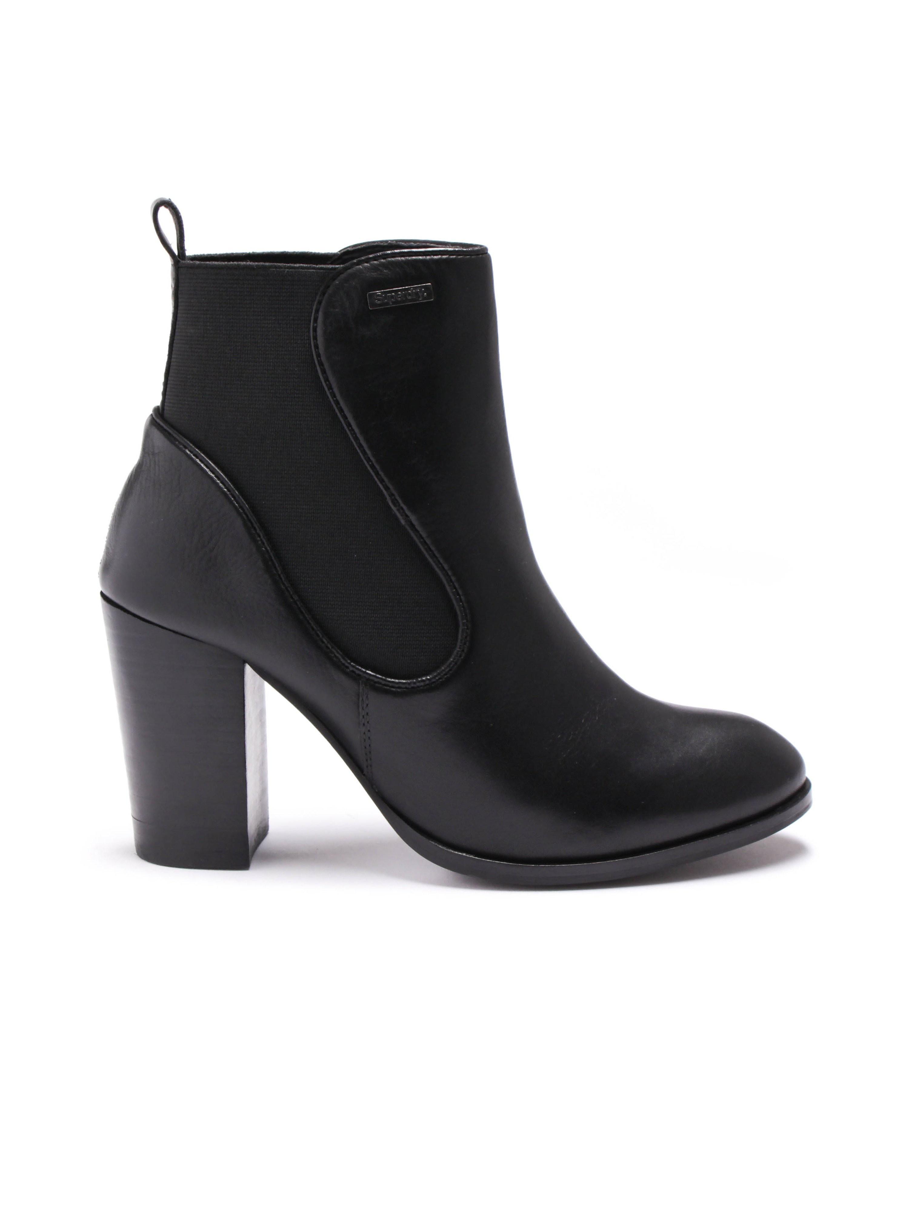 Superdry Fleur Heel Chelsea Boot - Black