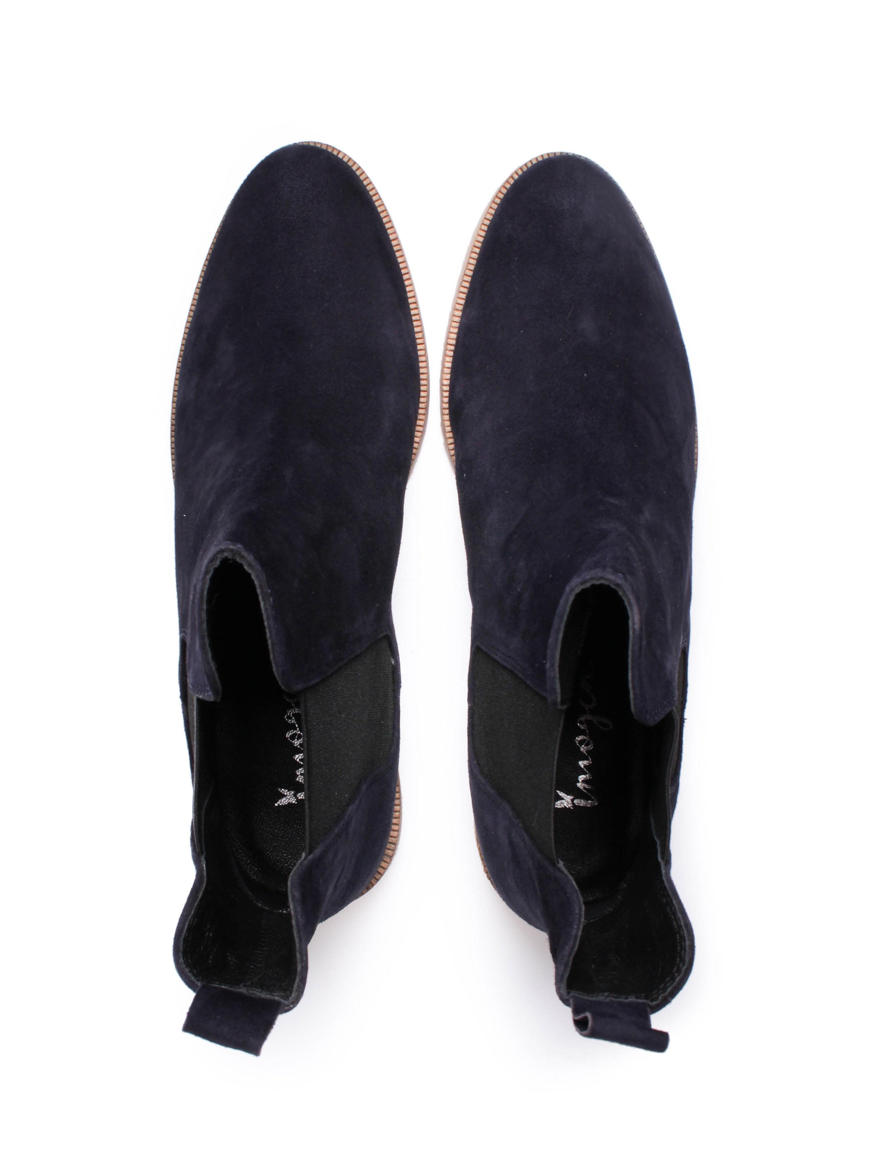Imogen Womens Navy Suede Chelsea Boots
