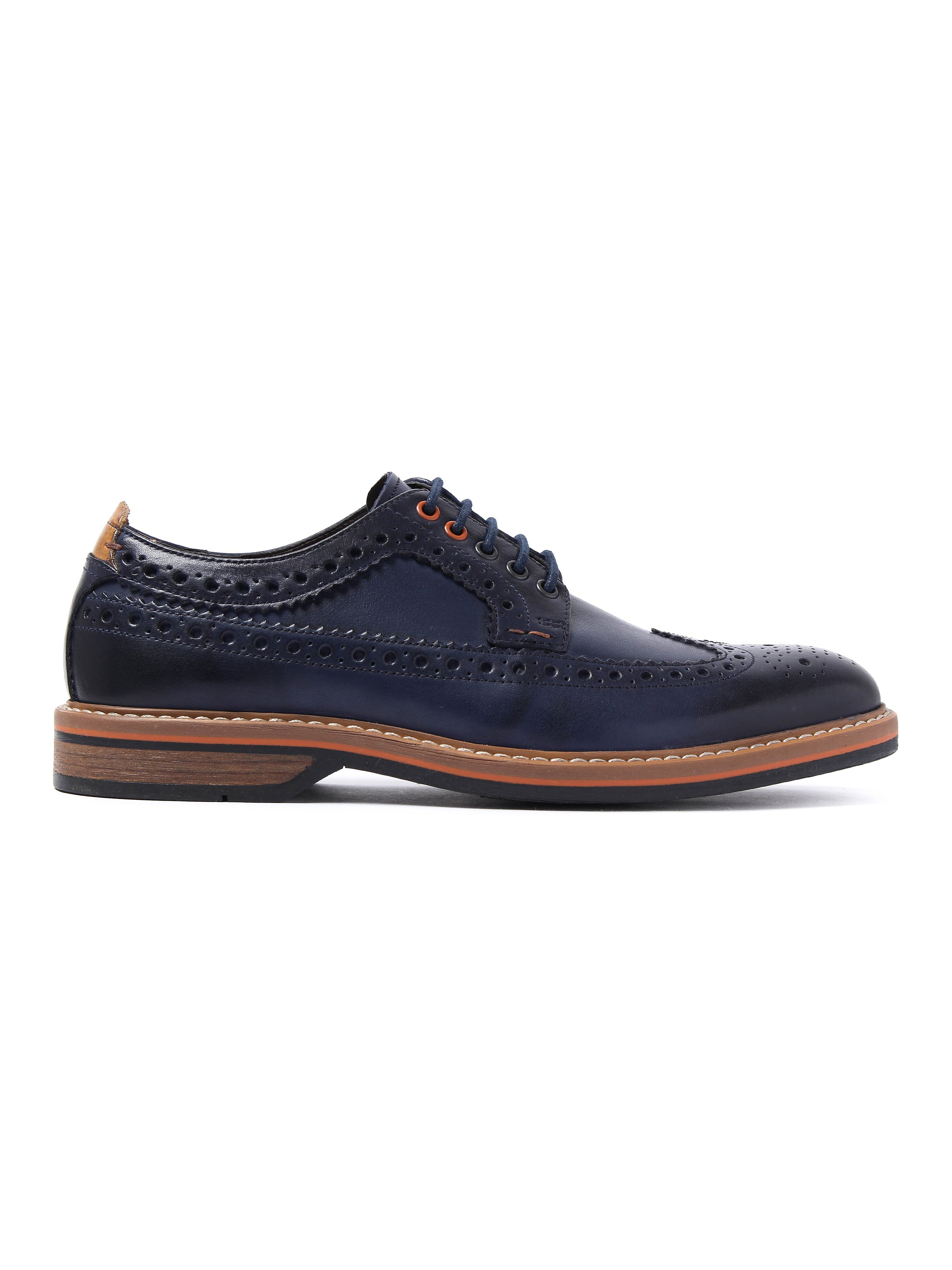 Clarks Pitney Limit Oxford Brogues - Blue