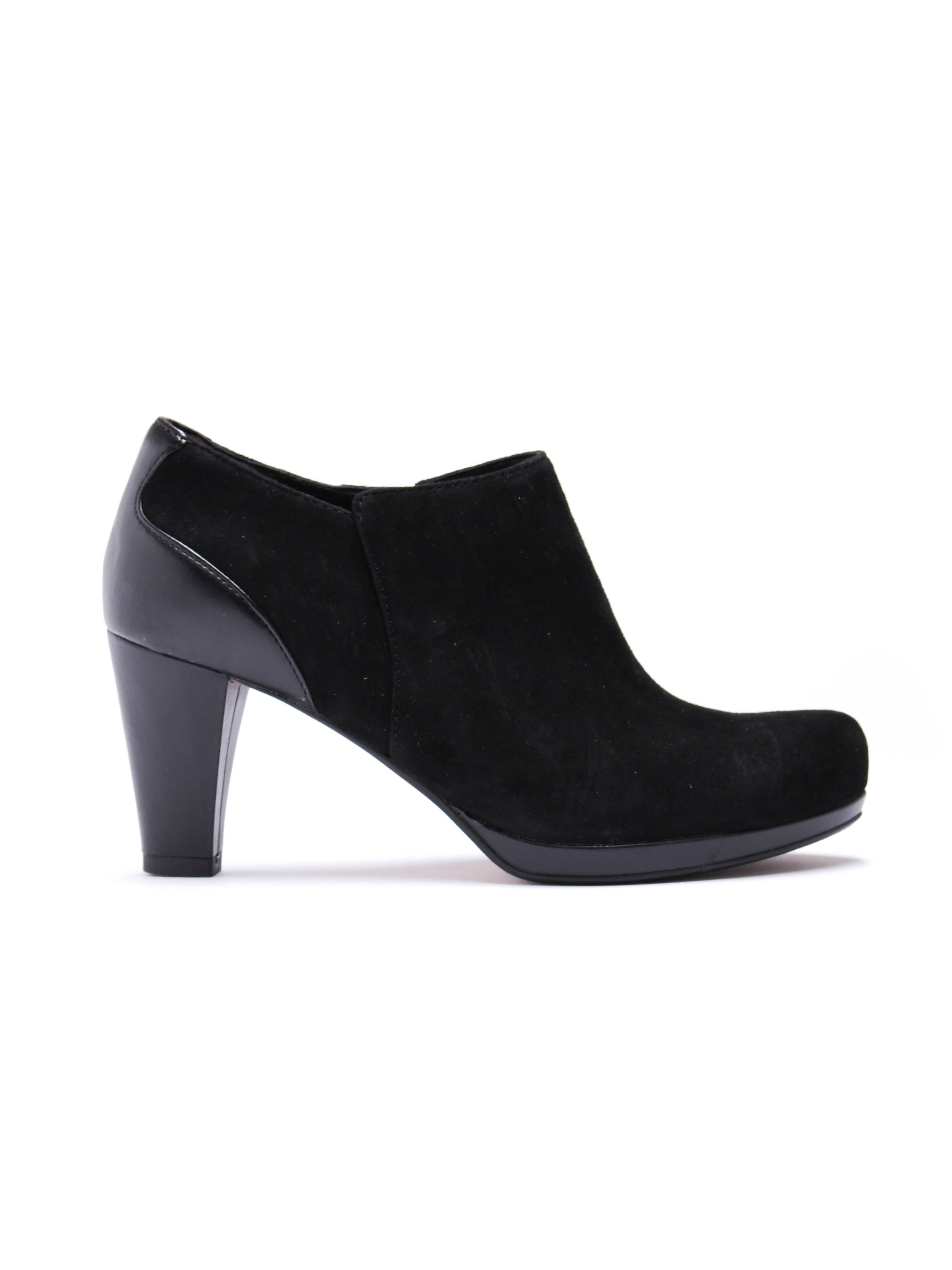 Clarks Women's Chorus True Suede Shoe - Black