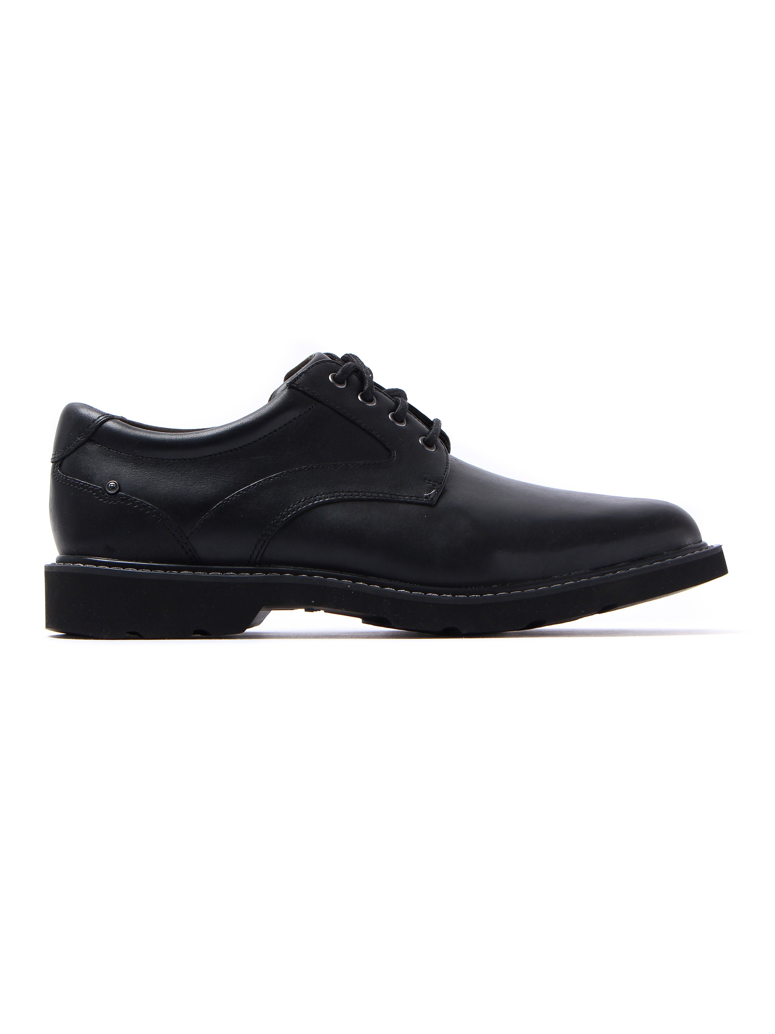 Rockport Men's Charles View Leather Derby Shoes - Black