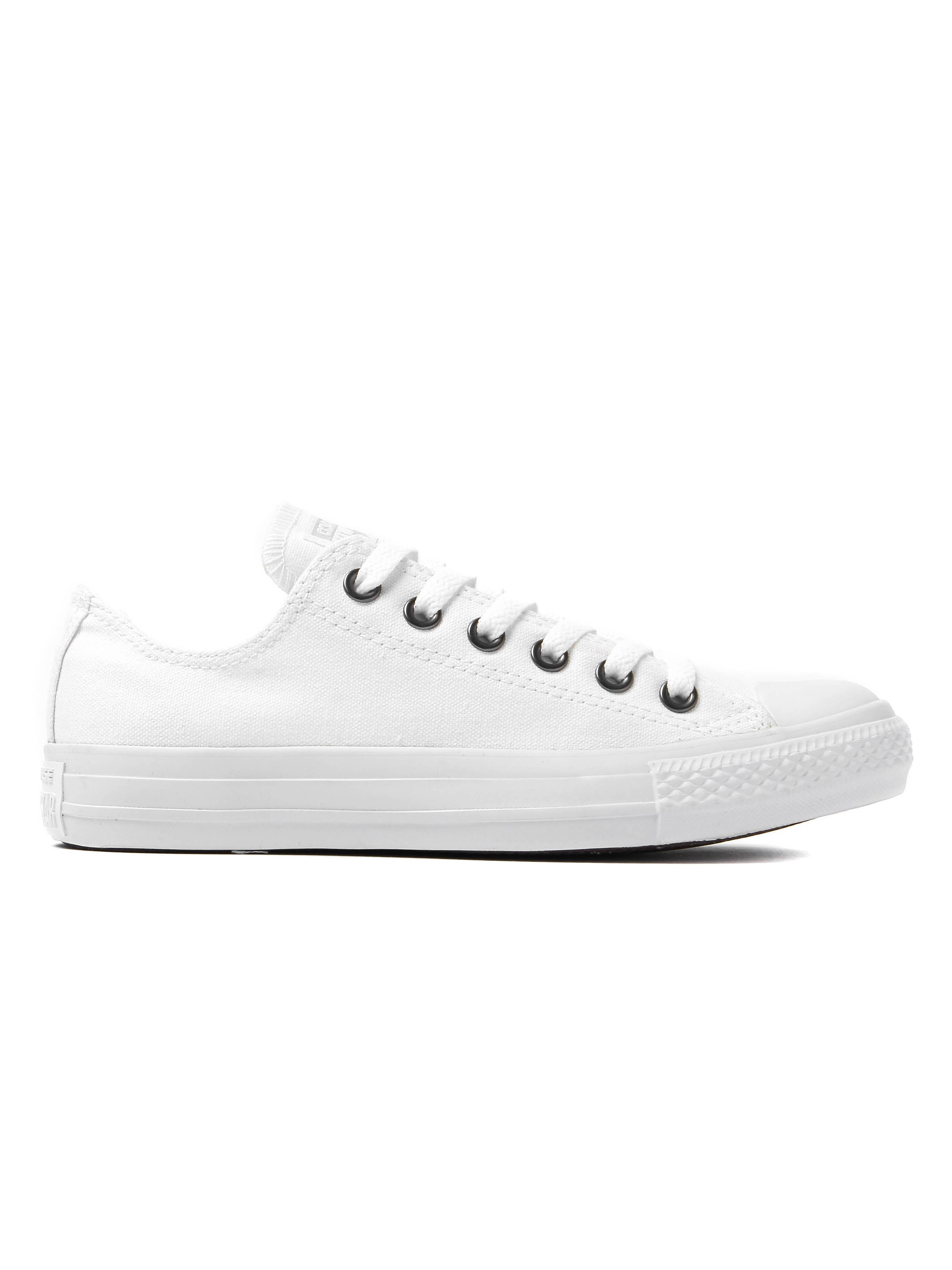 Converse Women's Chuck Taylor All Star OX Trainers - White Monoch