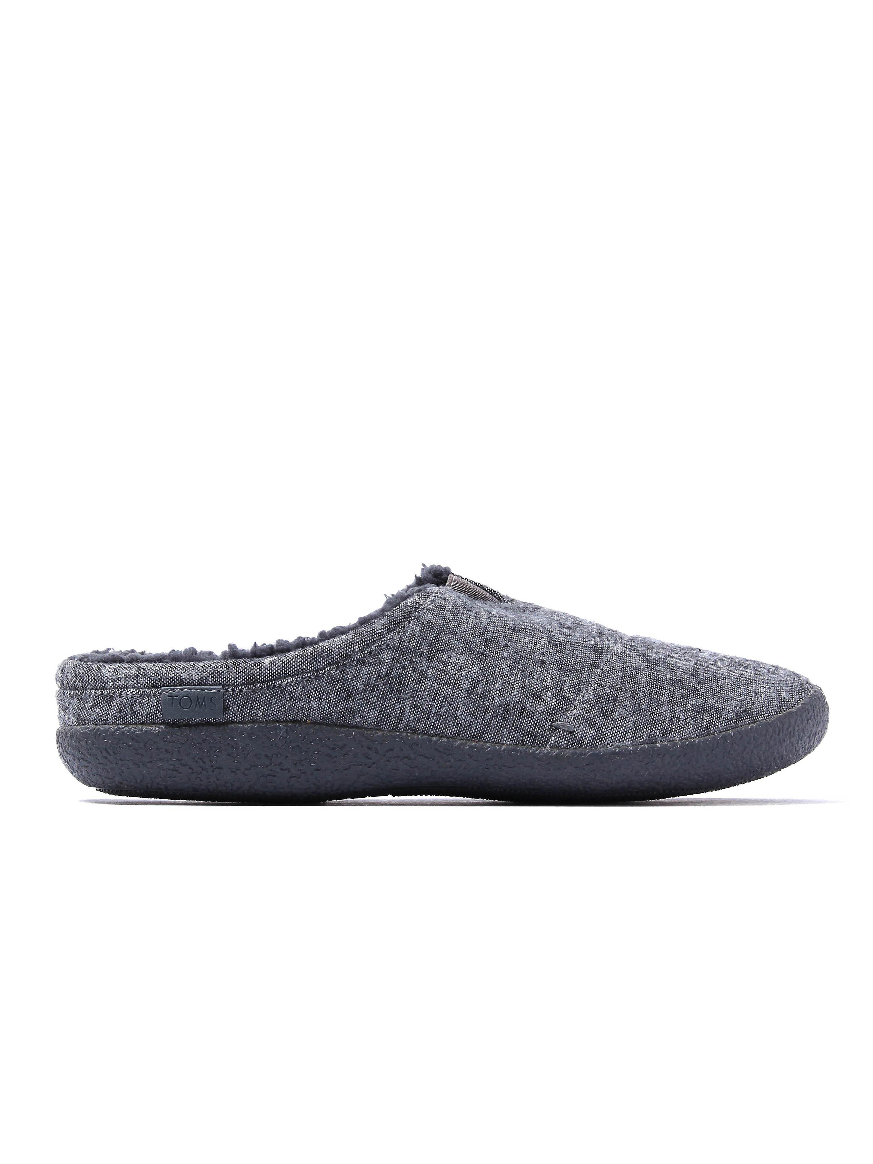 Toms Men's Berkeley Woven Mule Slippers - Grey Slub