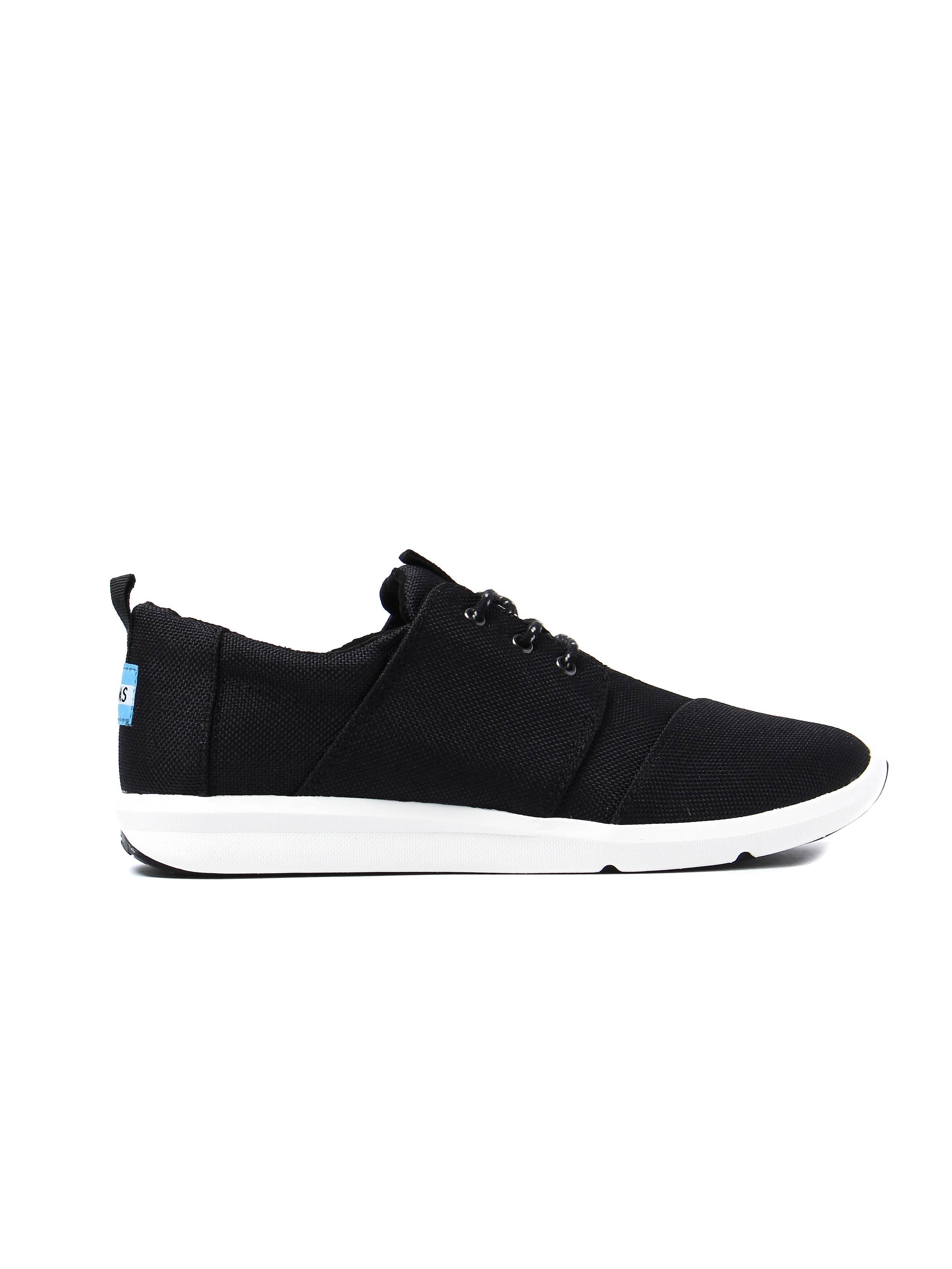 Toms Women's Del Rey Poly Canvas Trainers - Black
