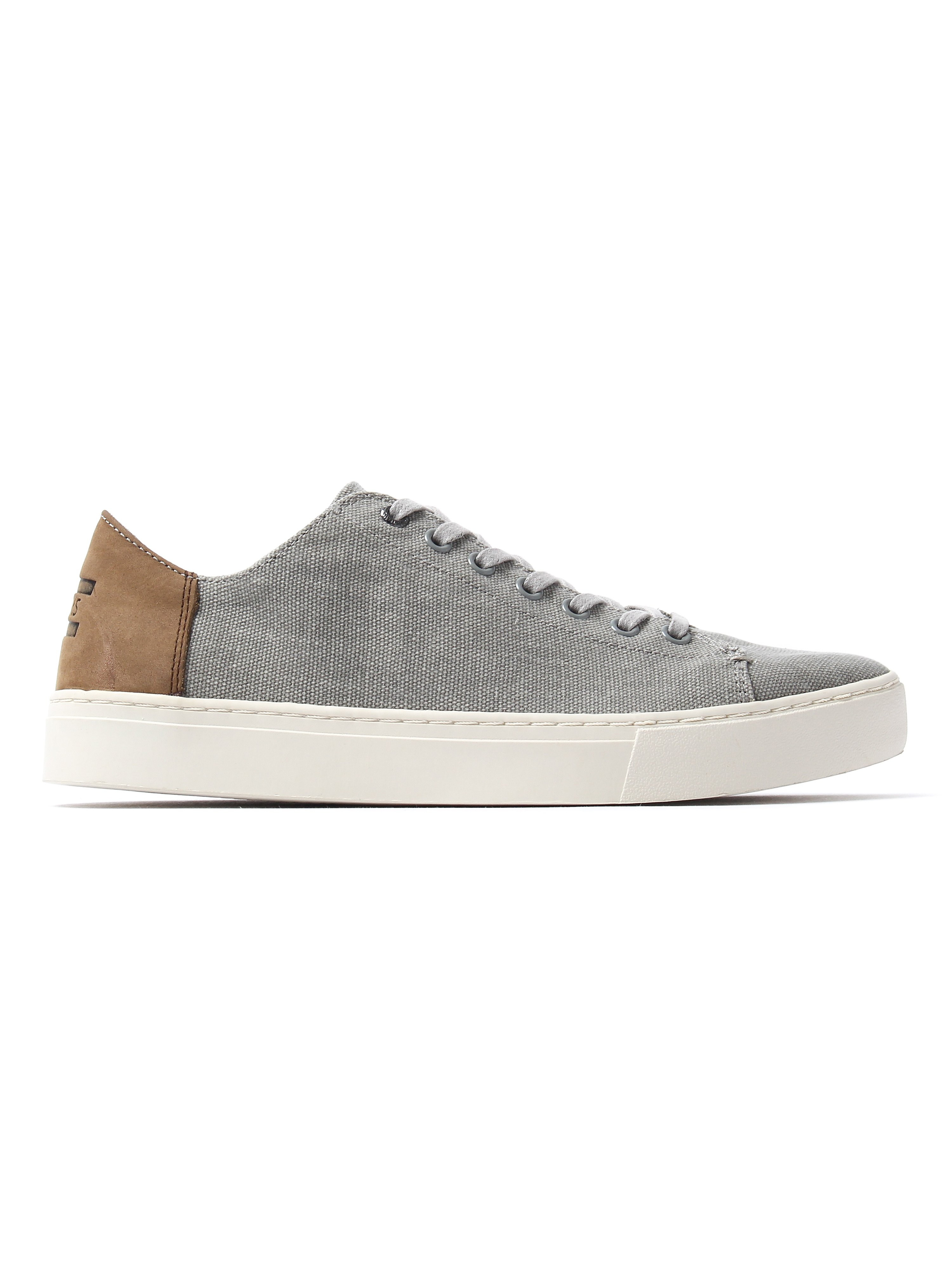 Toms Men's Lenox Washed Canvas Trainers - Drizzle Grey
