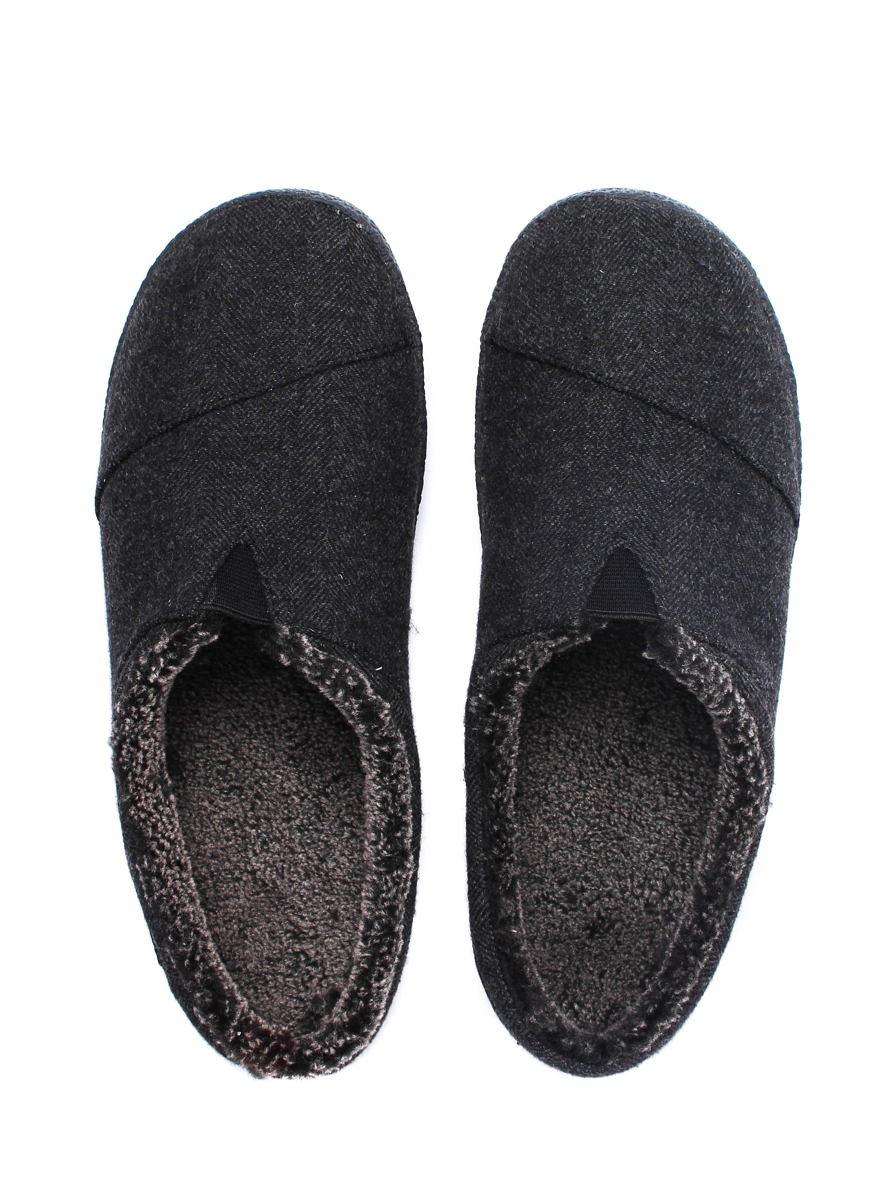 Toms Men's Berkeley Woollen Mule Slippers - Black Herringbone