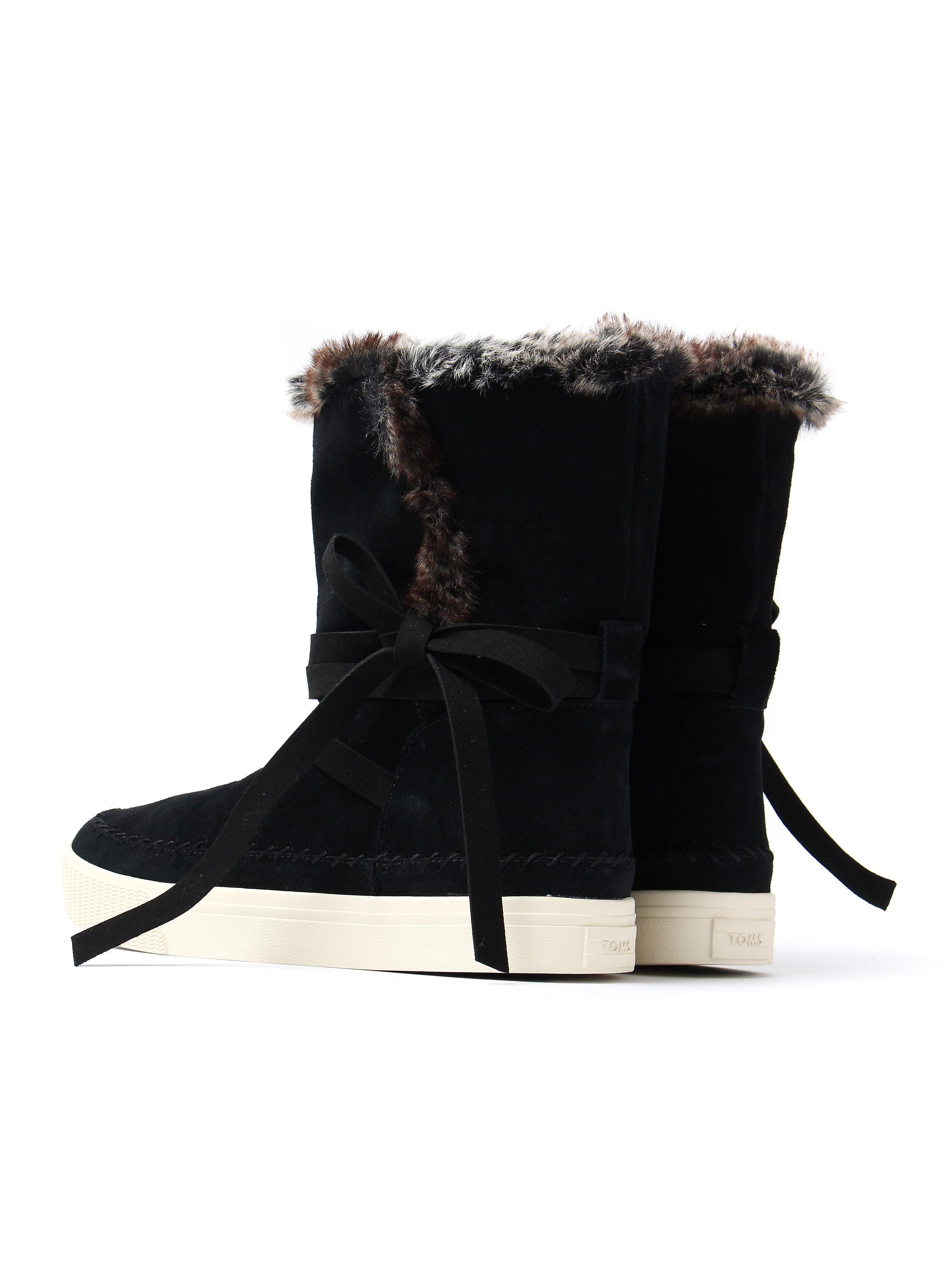 Toms Women's Vista Waterproof Boots - Black Suede