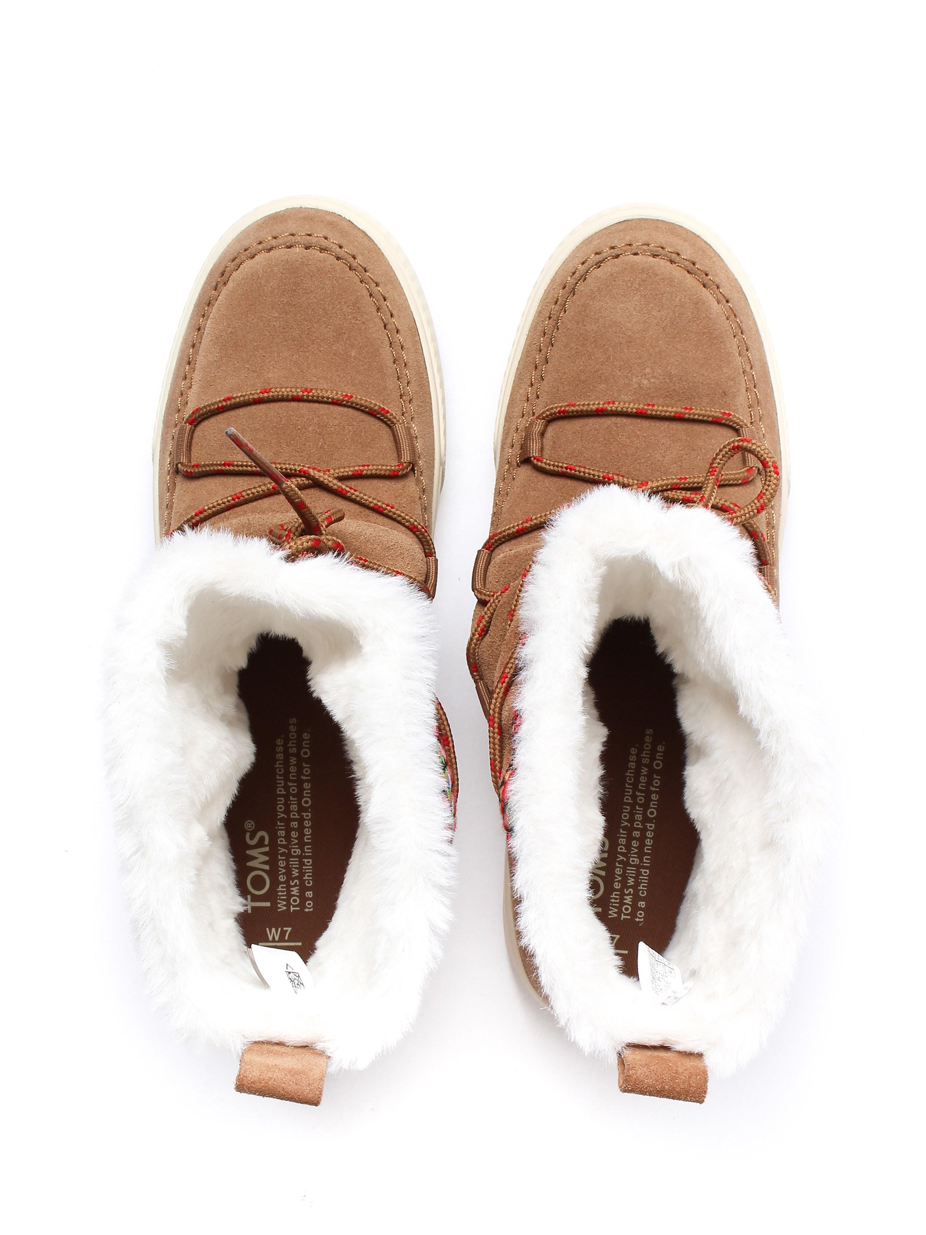 Toms Women's Alpine Waterproof Moccasin Boots - Toffee Suede