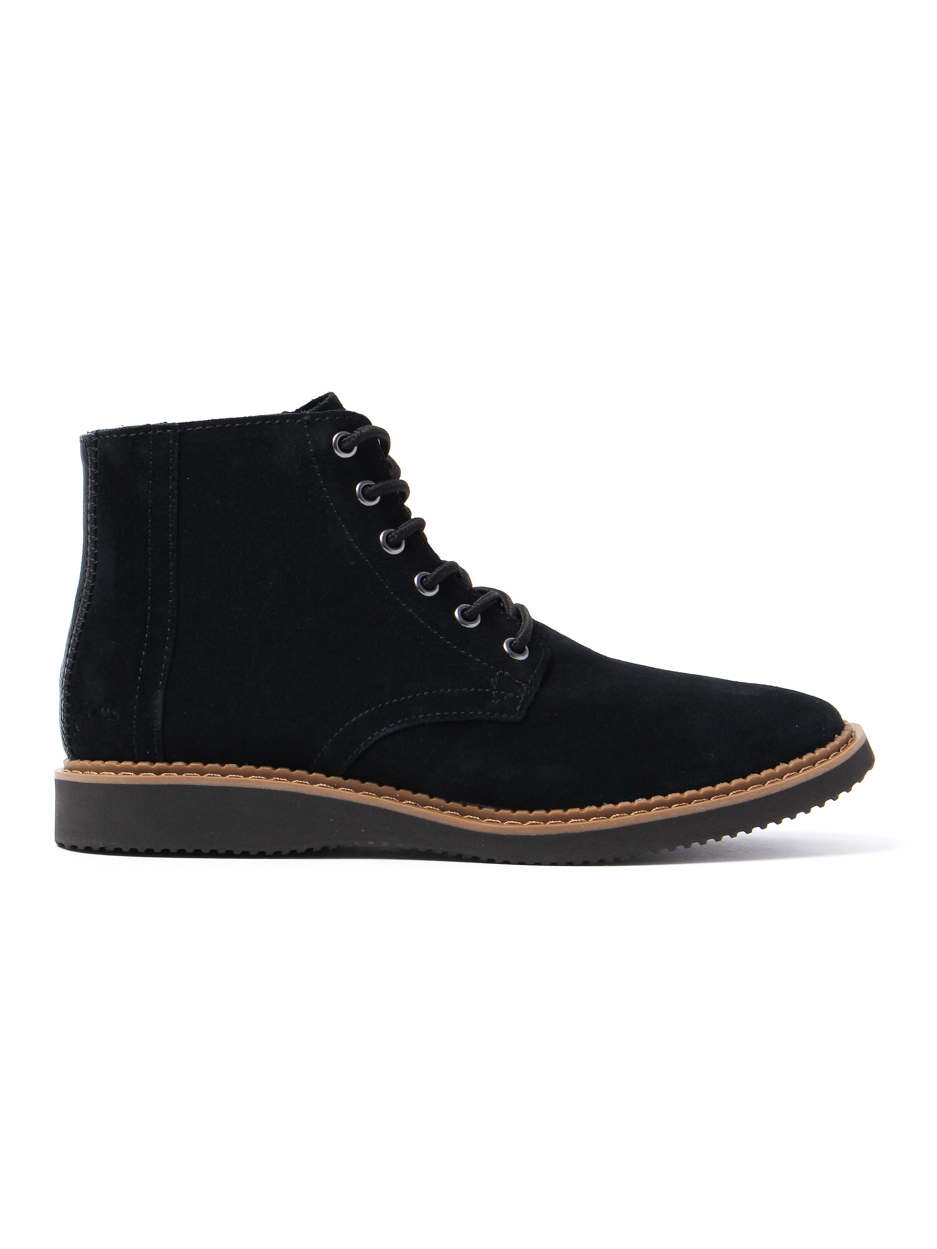 Toms Men's Porter Boots - Black Suede
